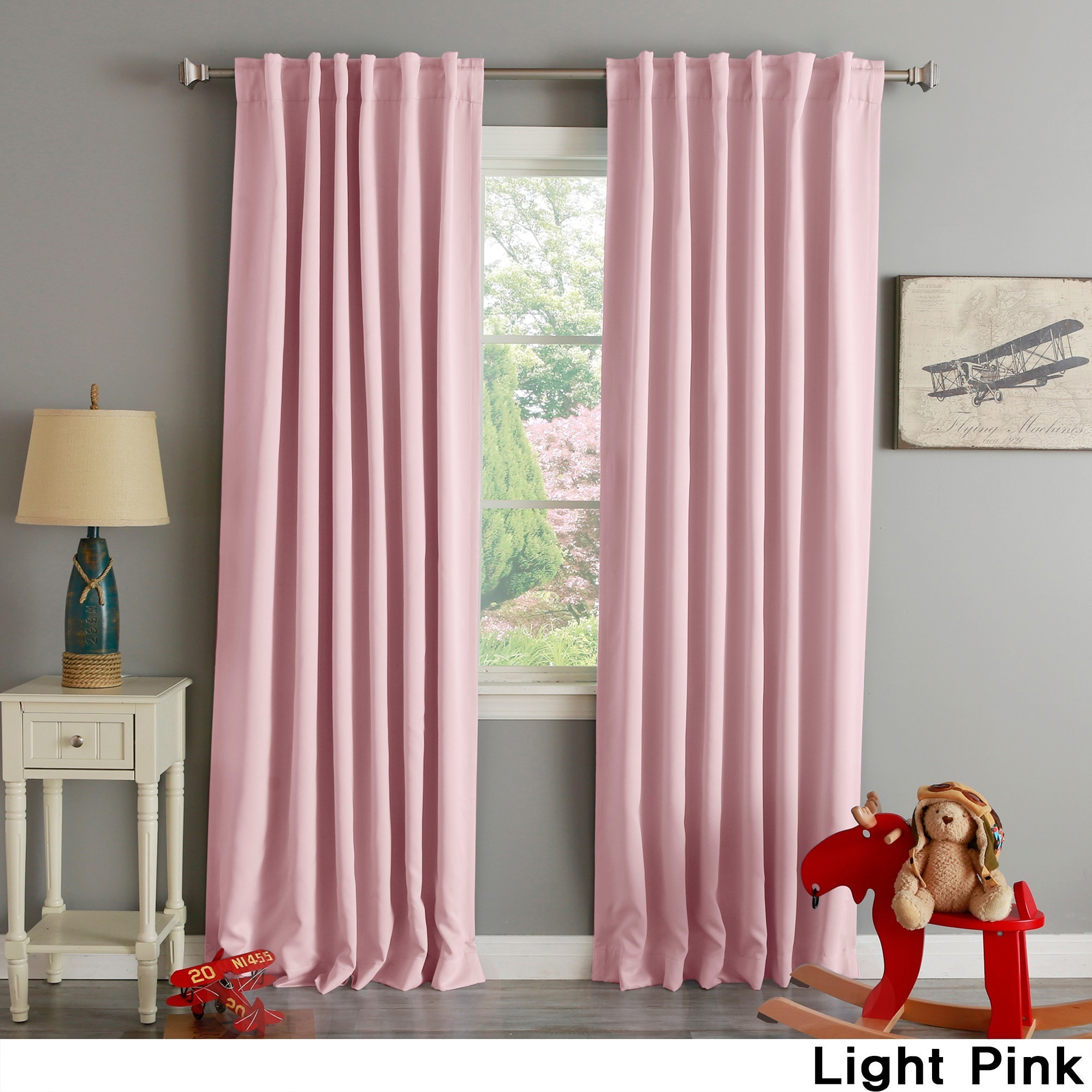 105 Inch Curtains Aurora Home Solid Thermal Insulated 108 Inch Blackout Curtain Panel Pair 52 X 108