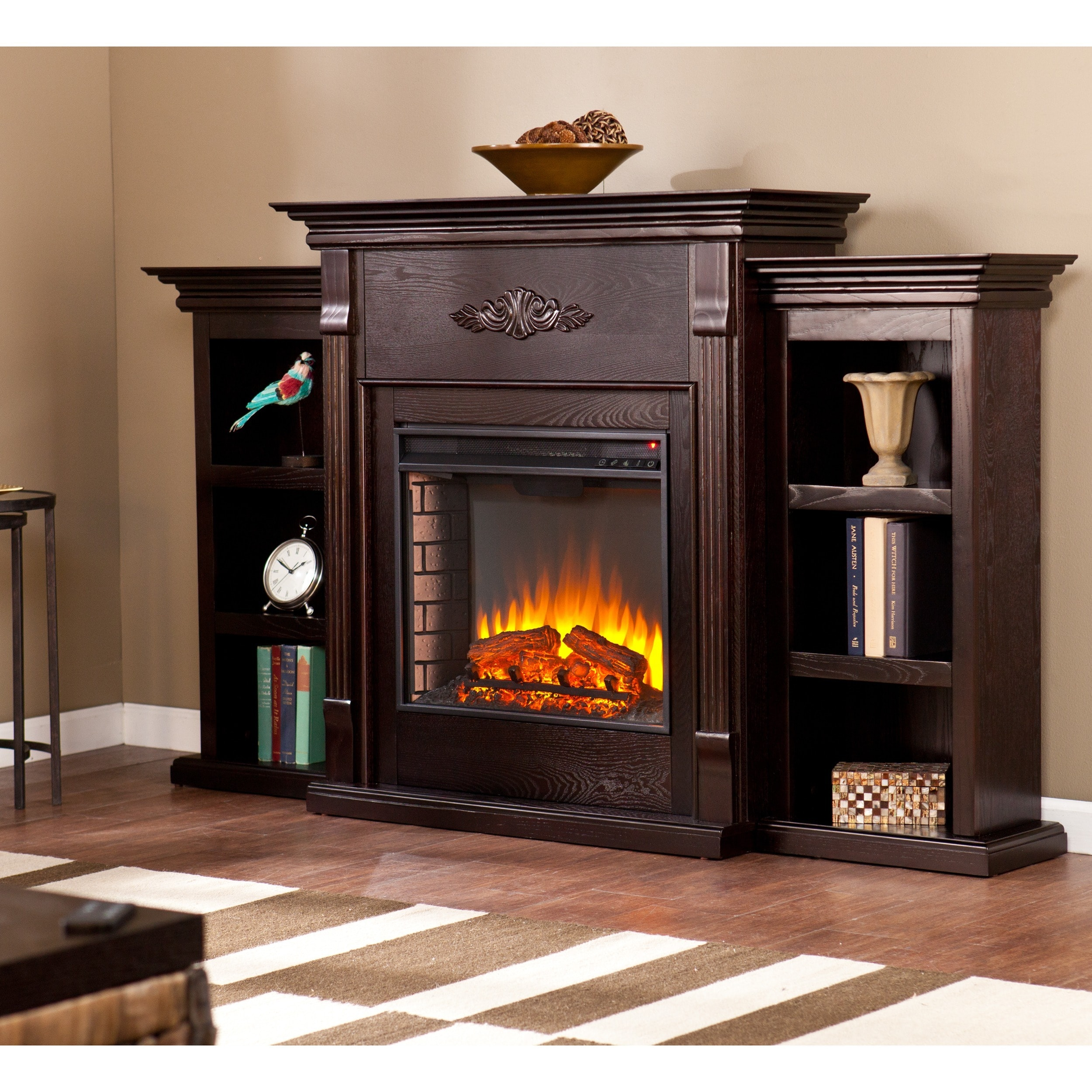 Electric Fireplace.com Gracewood Hollow Forbes 70 Inch Espresso Electric Fireplace