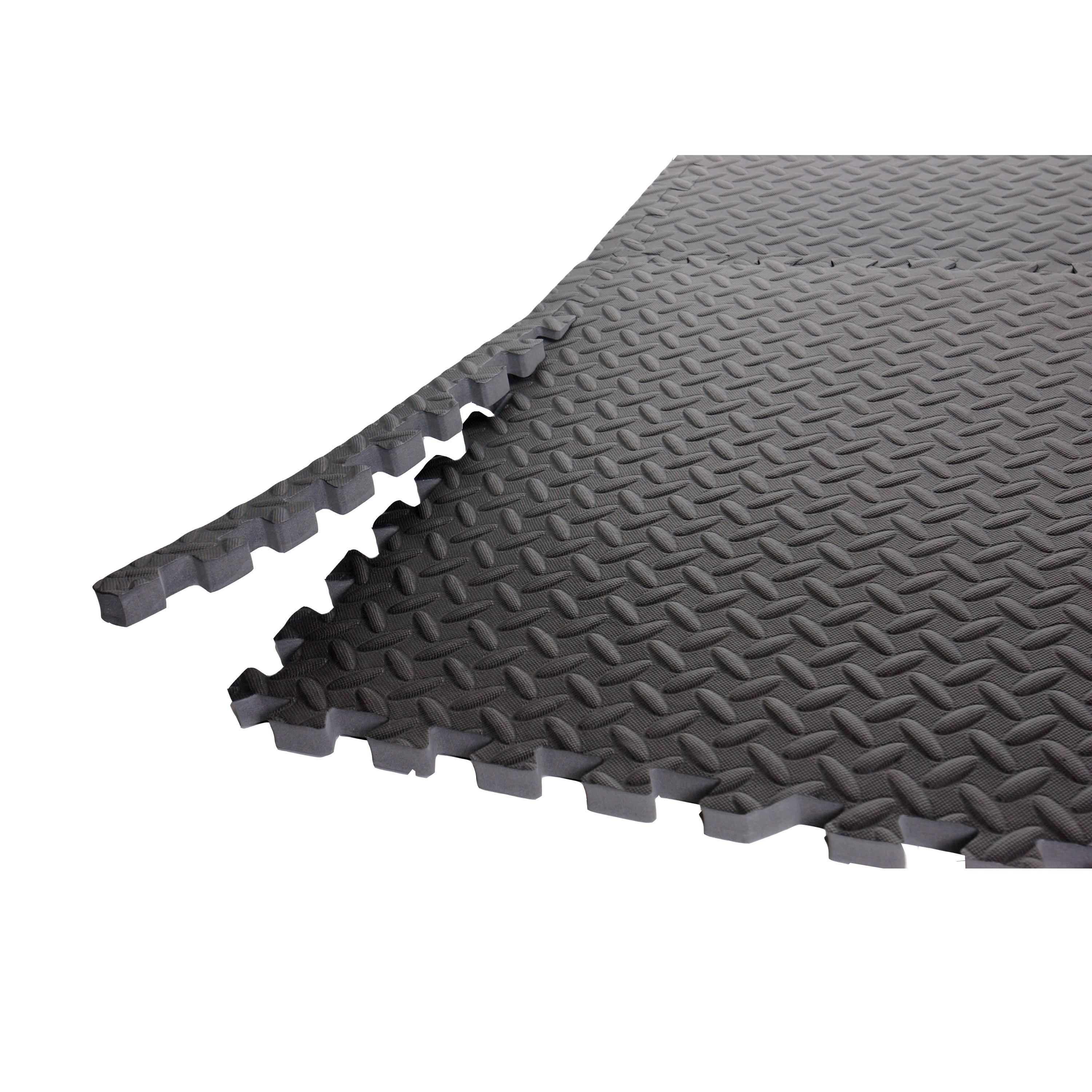 Gym Mat Flooring Cap Barbell Anti Microbial Puzzle Like Grey Pvc Foam Floor And Gym Mats
