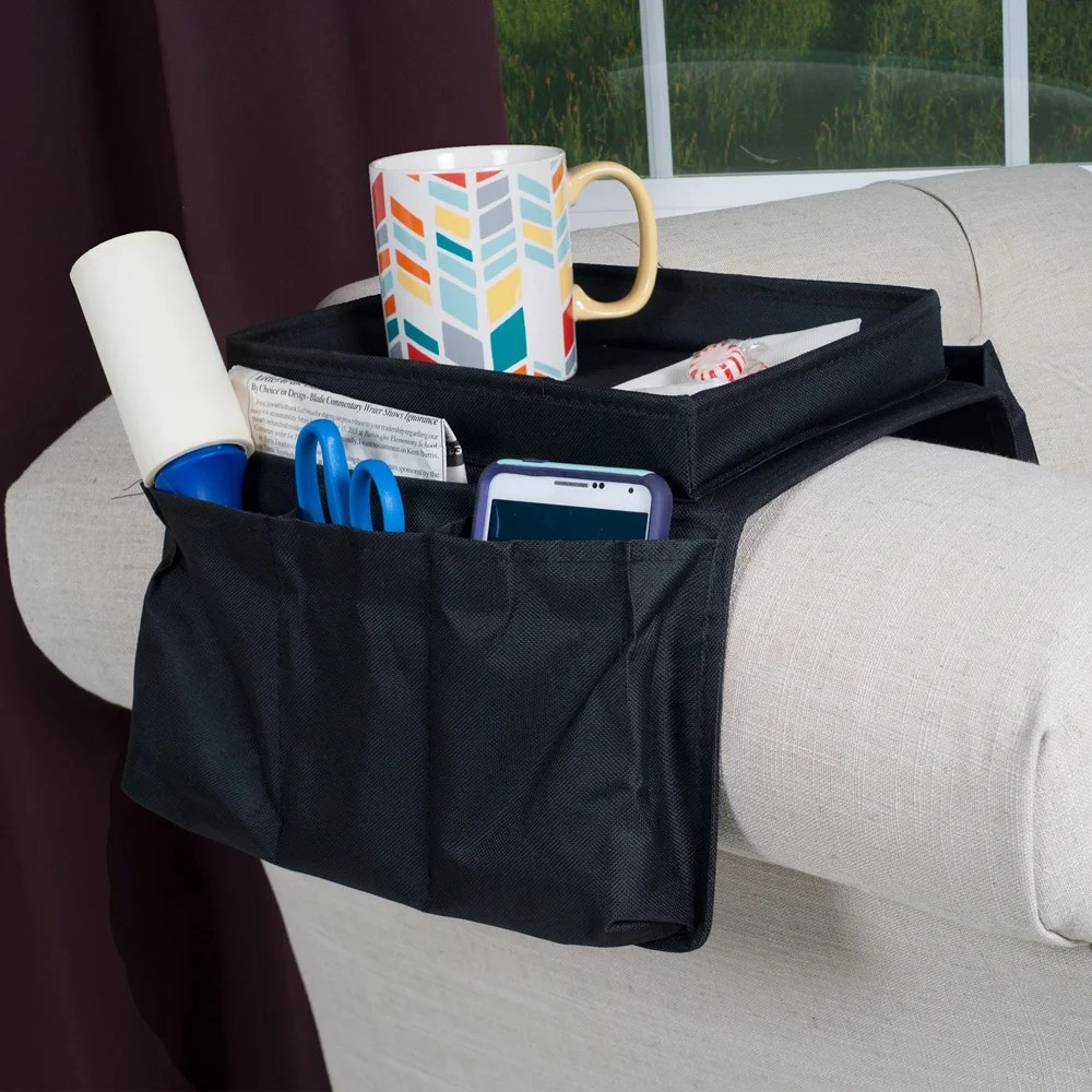 Sofa Arm Organizer Tray As Seen On Tv 6 Pocket Arm Rest Organizer