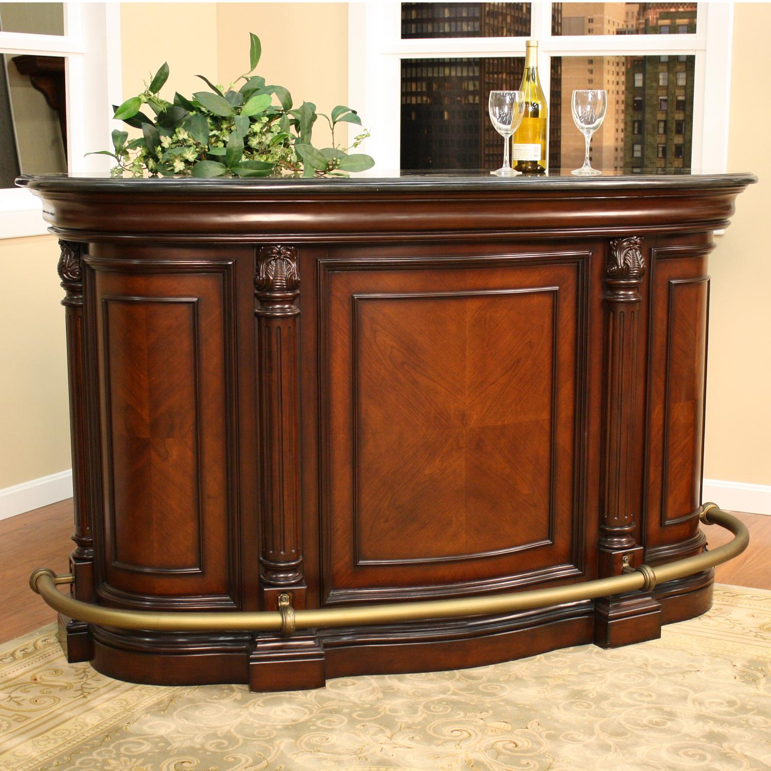 Home Bar Furniture Haley 70 Inch Wood Home Bar
