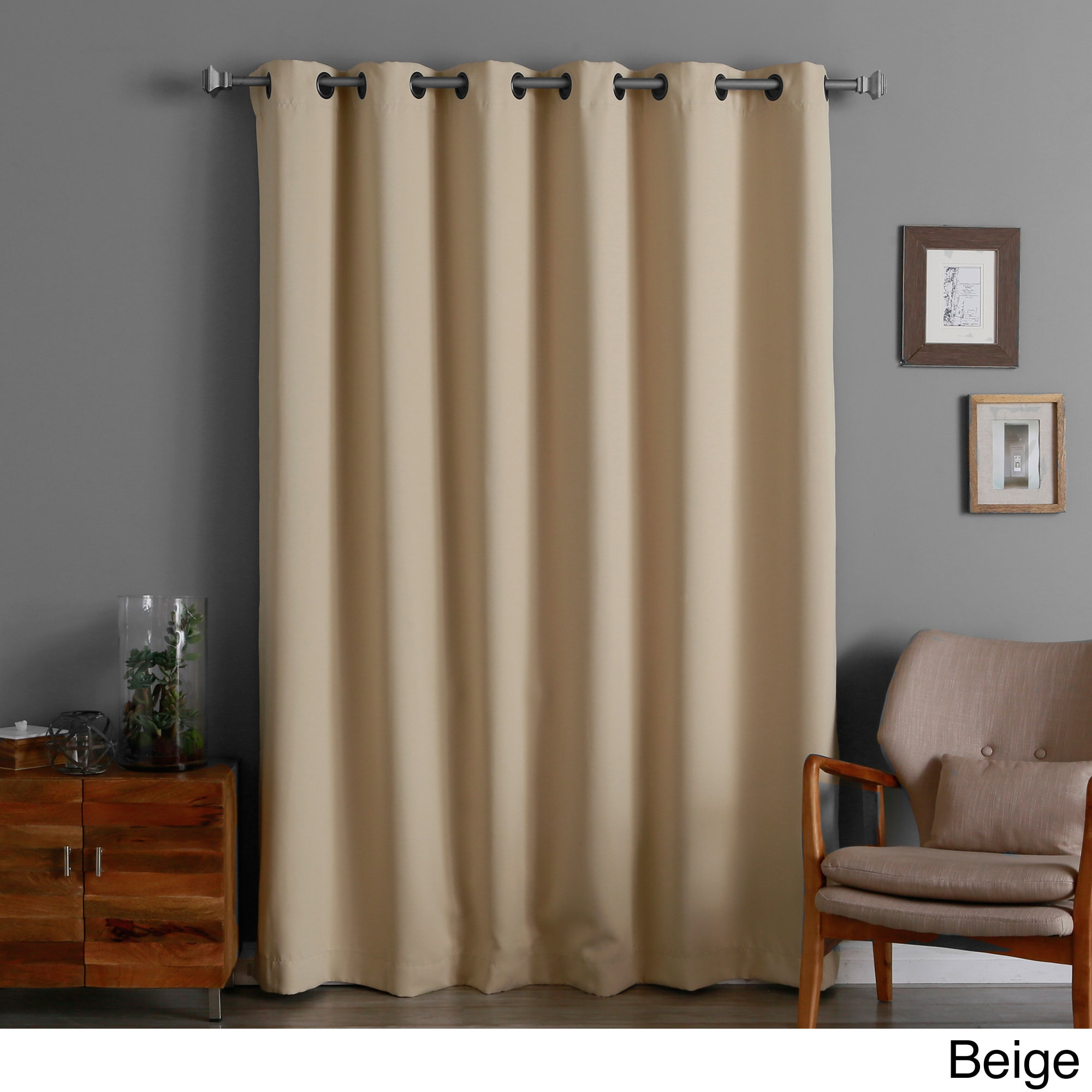 Dark Red Blackout Curtains Aurora Home 84 Inch Wide Width Thermal Blackout Curtain Panel