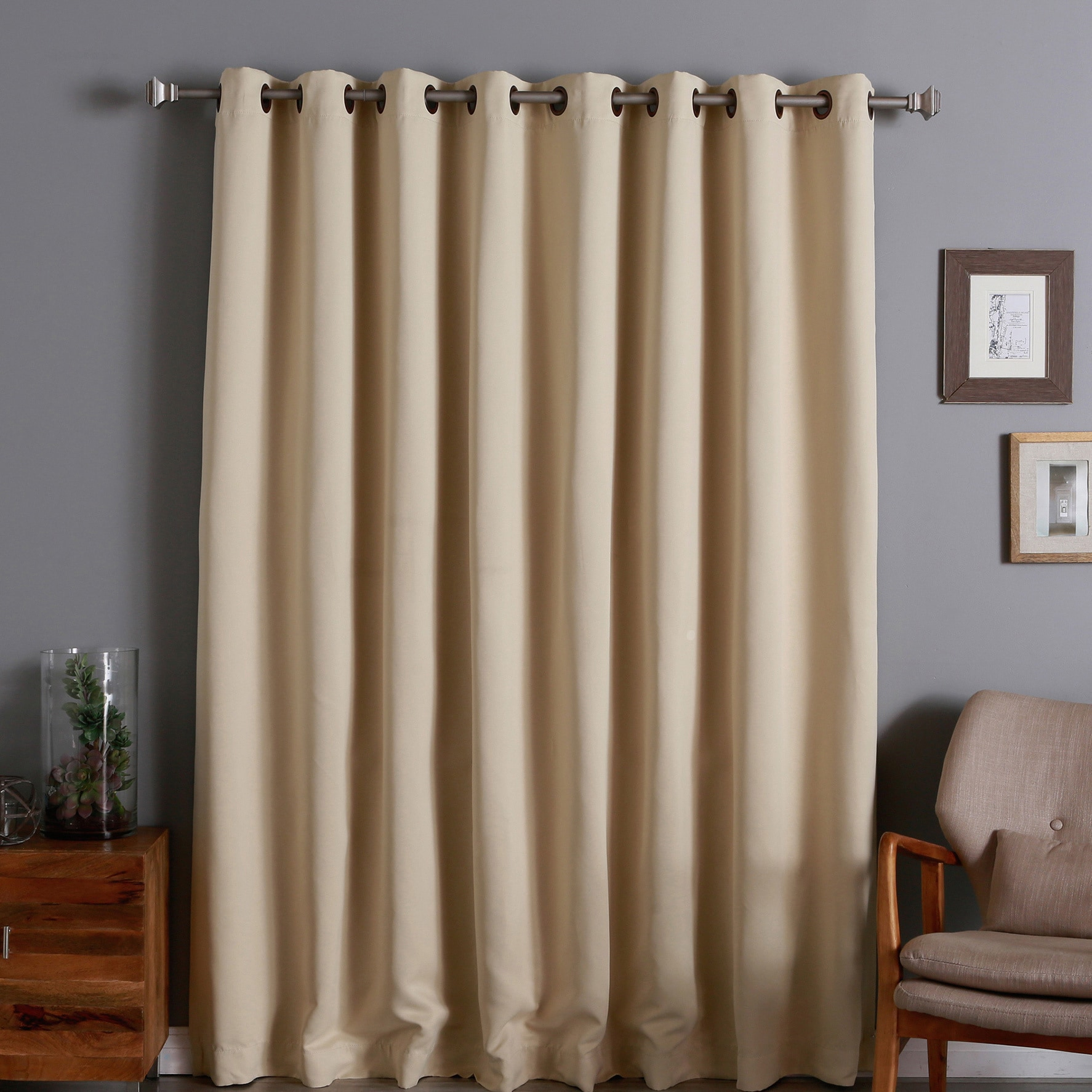 105 Inch Curtains Aurora Home Extra Wide Thermal 100 X 84 Inch Blackout Curtain Panel 100 X 84