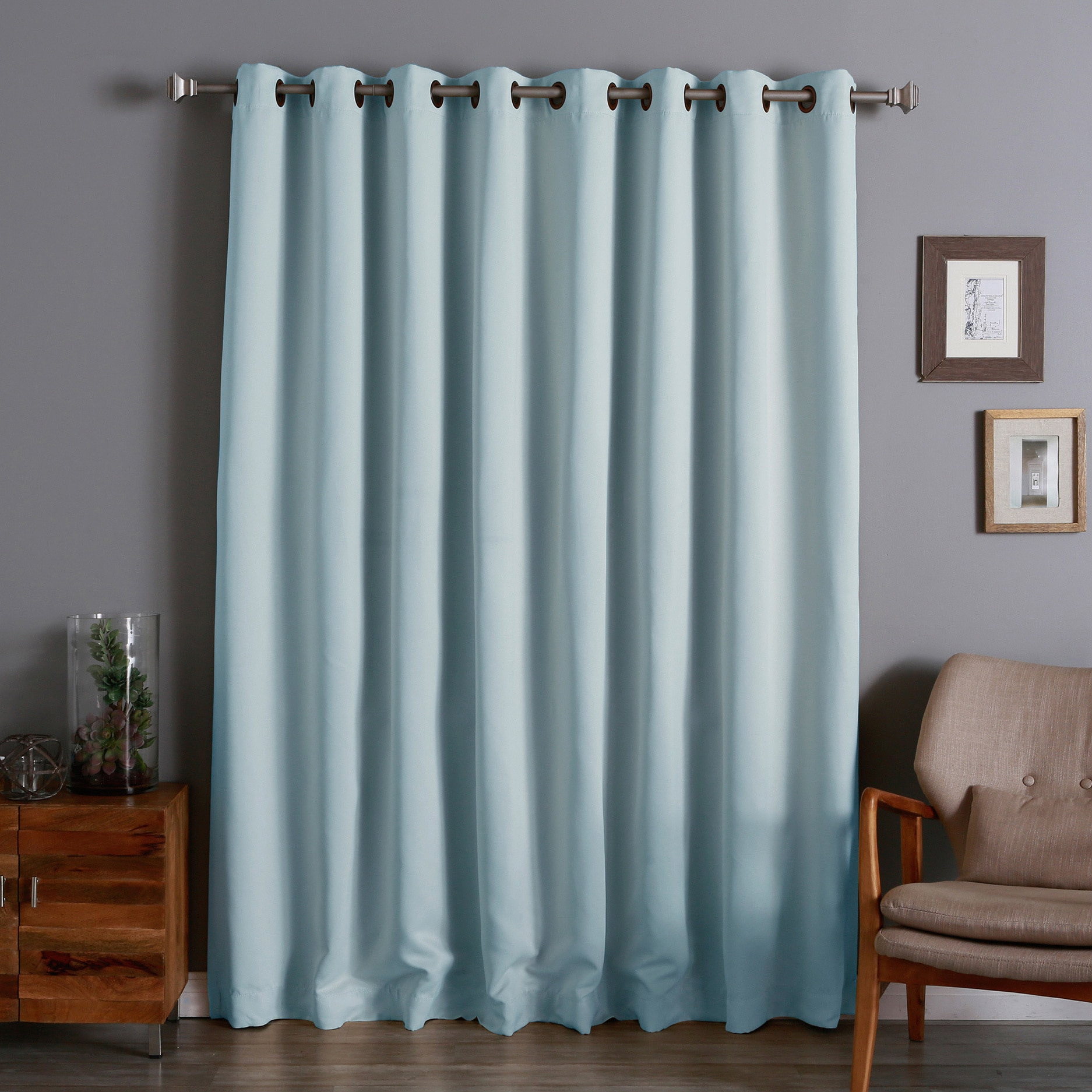 Teal Blackout Curtains Aurora Home Extra Wide Thermal 100 X 84 Inch Blackout Curtain Panel 100 X 84