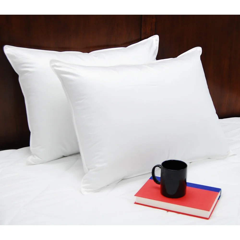 Standard Bed Pillows Splendorest Luxury Down Alternative Standard Size Pillows Set Of 2 White