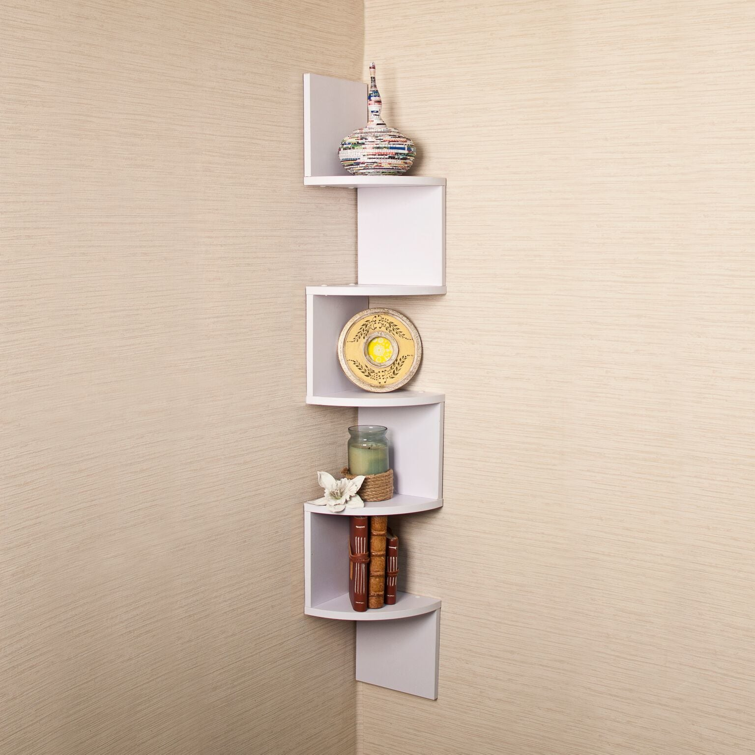Corner Wall Shelf Unit Veneer Corner Wall Mount Shelf