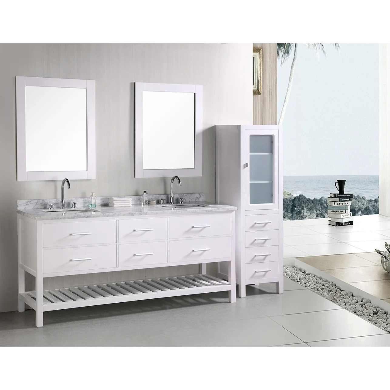 Bathroom Vanity 72 Double Sink Design Element London 72 Inch Double Sink Bathroom Vanity Set
