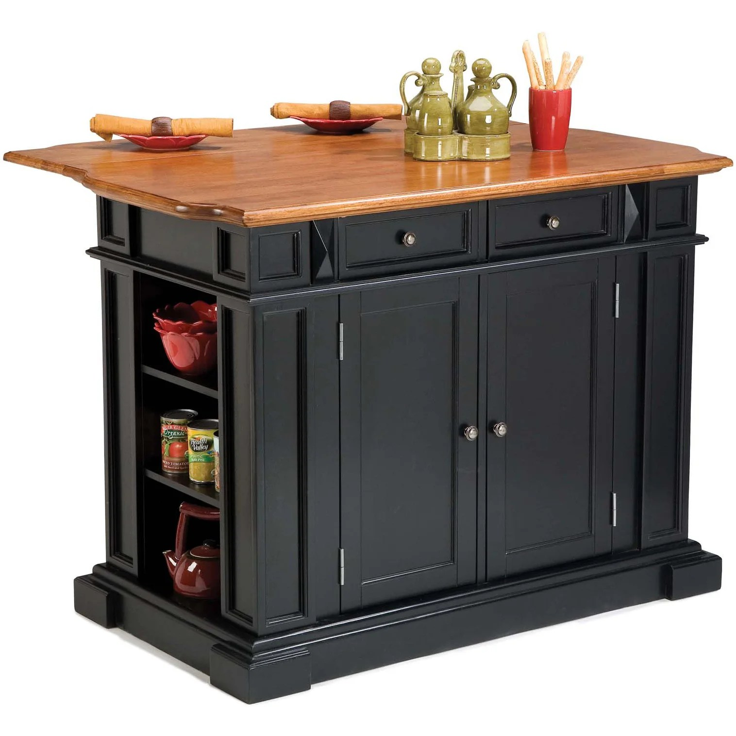 Black Island Kitchen Copper Grove Warwick Black Distressed Oak Kitchen Island
