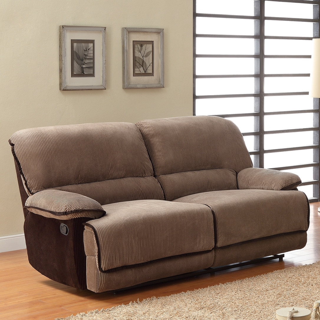 Corduroy 3 Seater Sofa Tribecca Home Selena Brown Corduroy Sofa