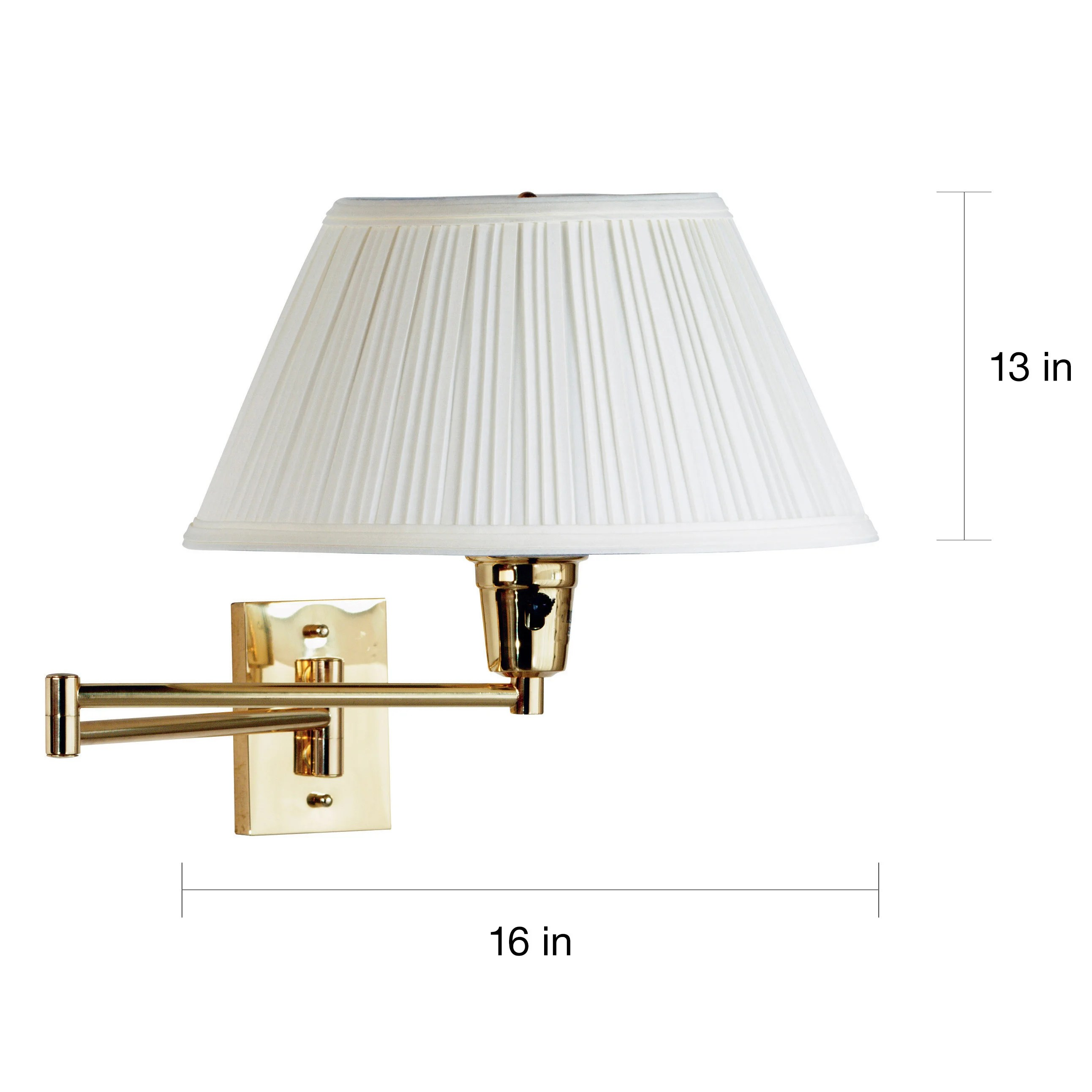 Arm Lamp Design Craft Varallo Polished Brass Wall Swing Arm Lamp