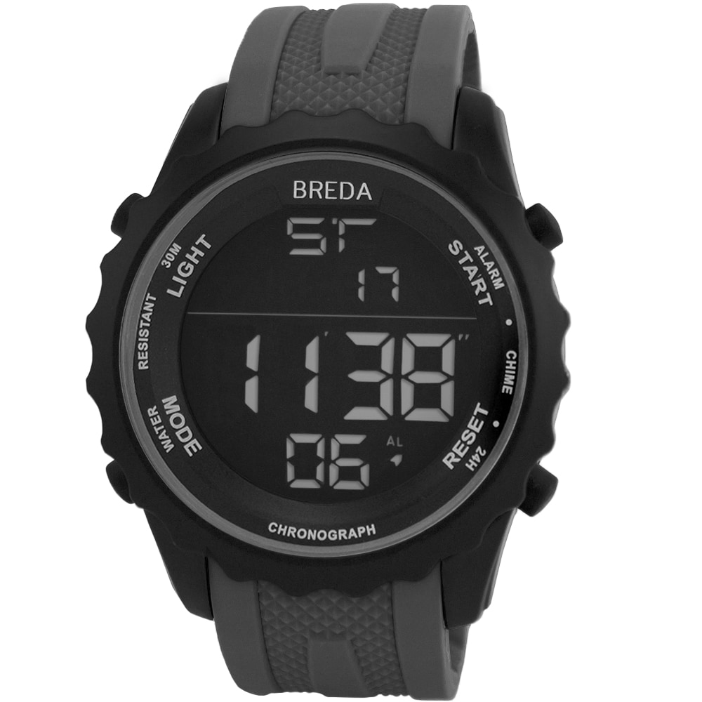 Game Winkel Breda Breda Men S Mason Black Digital Sport Watch With Rubber Strap