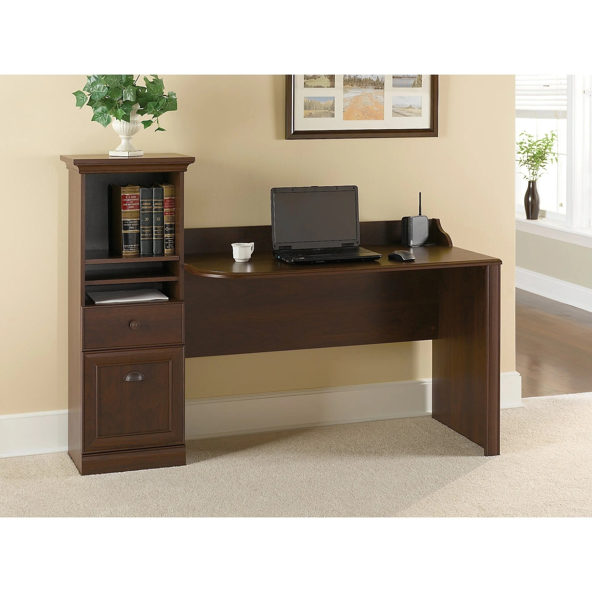 Workstation Furniture Bush Furniture Barton Computer Workstation Desk In Bing Cherry