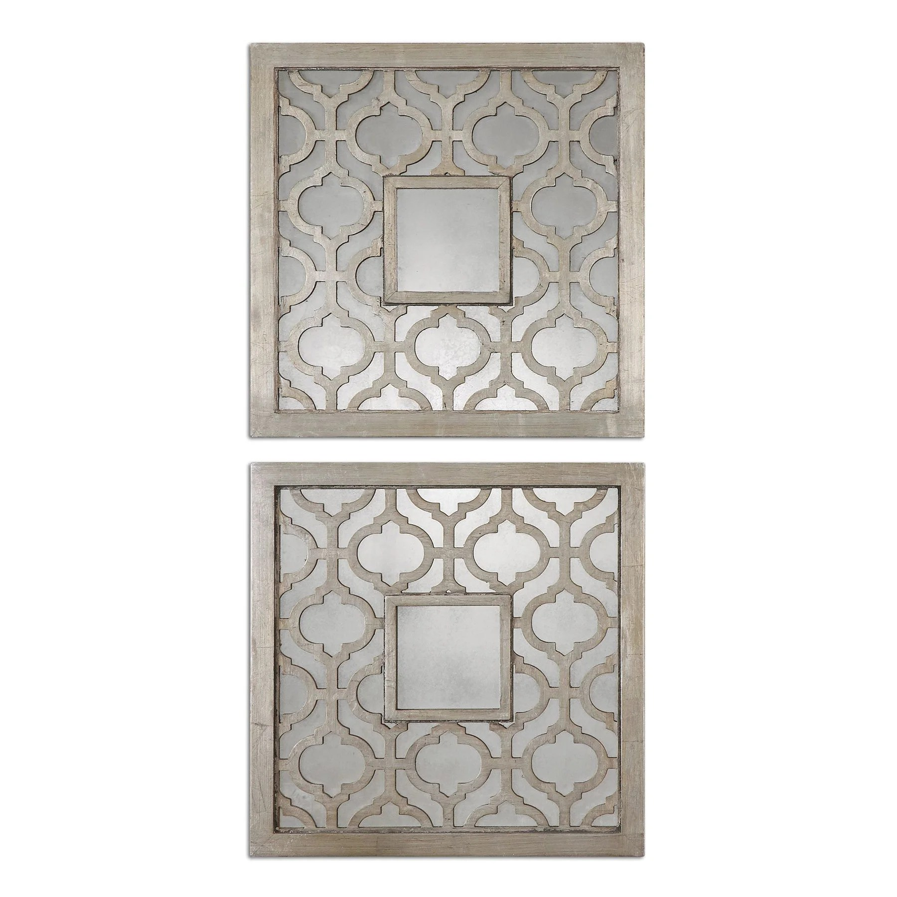 Decorative Mirror Uttermost Sorbolo Squares Decorative Mirror Set Of 2 Silver