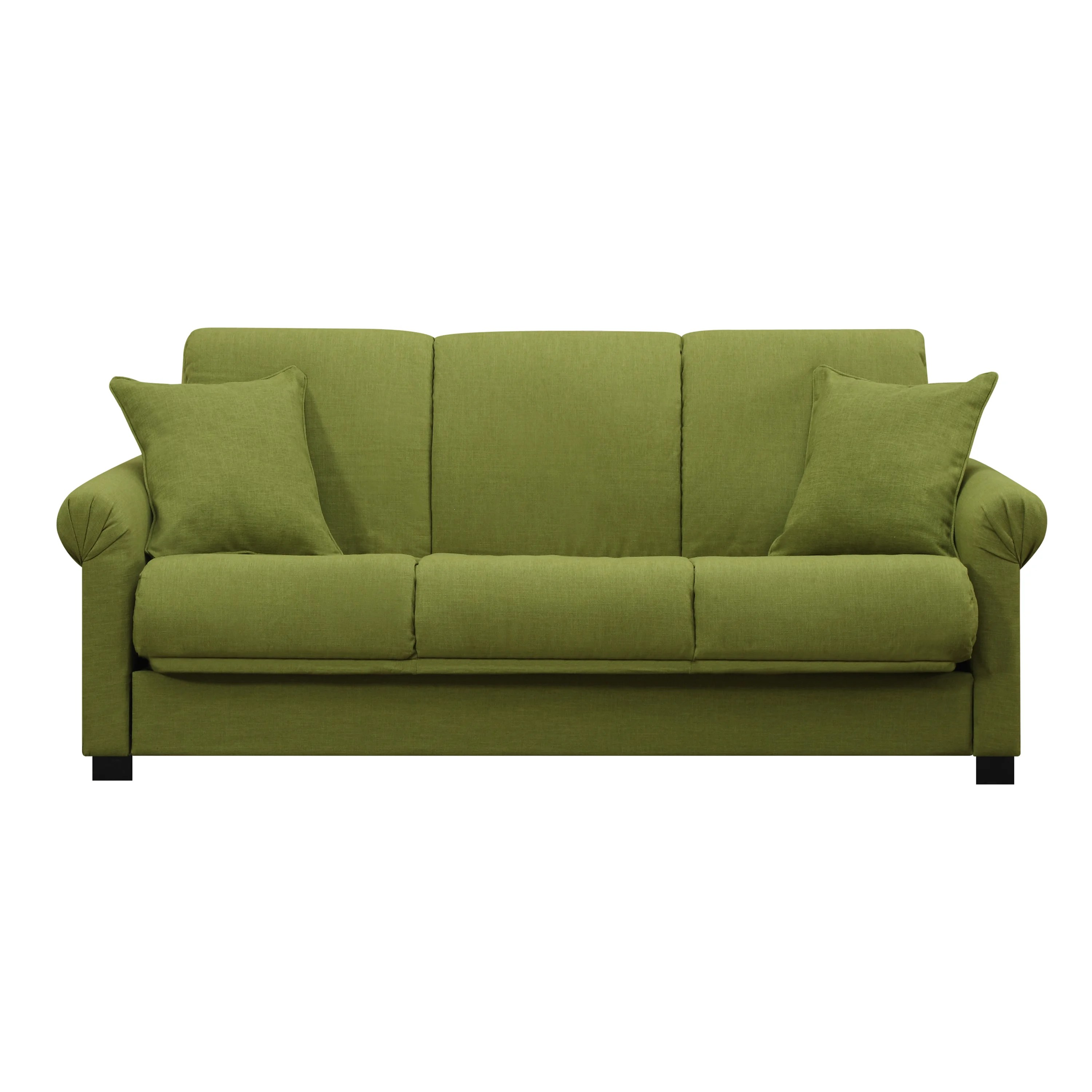 Futon Nice Handy Living Rio Convert A Couch Apple Green Linen Futon Sofa Sleeper