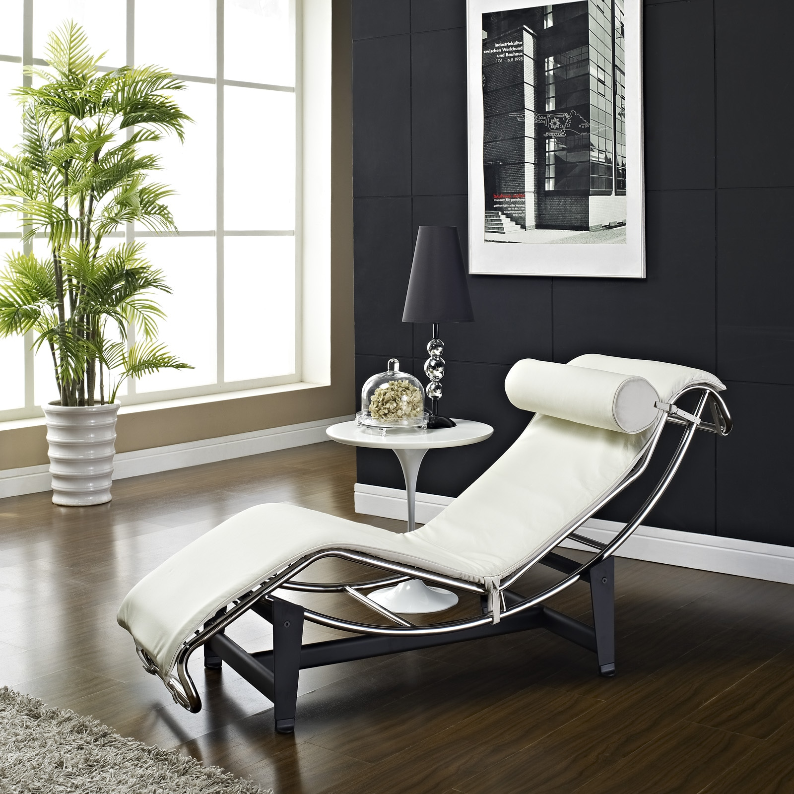 Chaise Style Le Corbusier Style Lc4 Genuine Leather Chaise Lounge