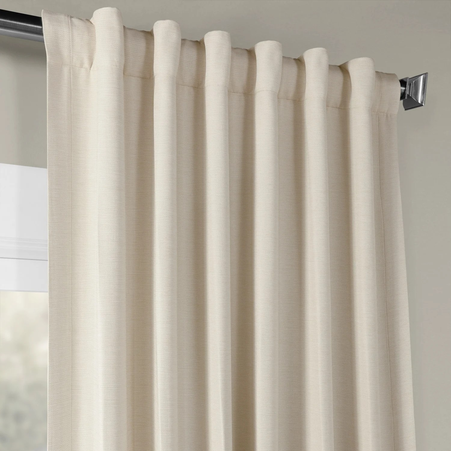 Cottage Shower Curtain Exclusive Fabrics Cottage Off White Bellino Single Panel Blackout Curtain