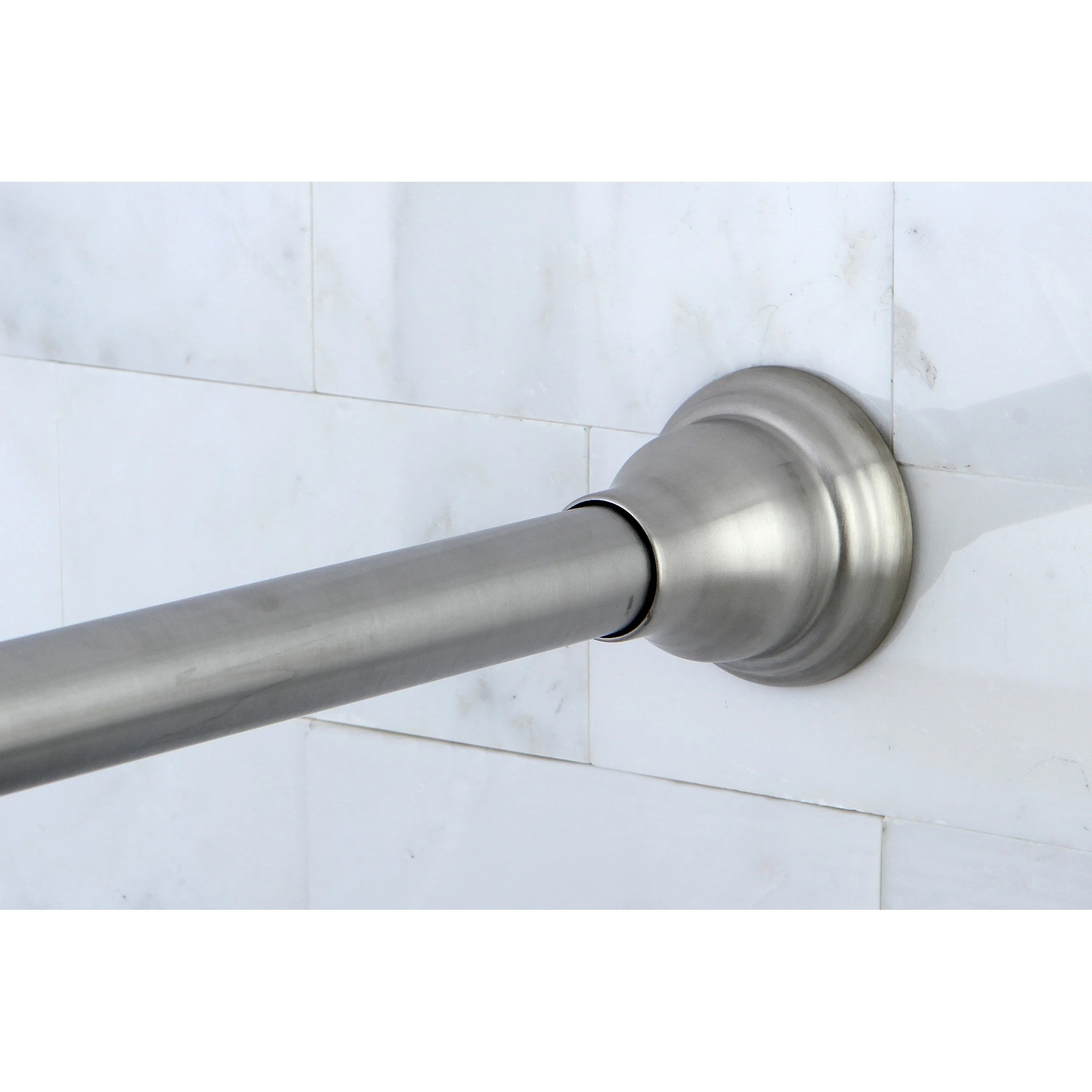 Heavy Duty Tension Shower Curtain Rod Satin Nickel Adjustable Shower Curtain Rod Silver