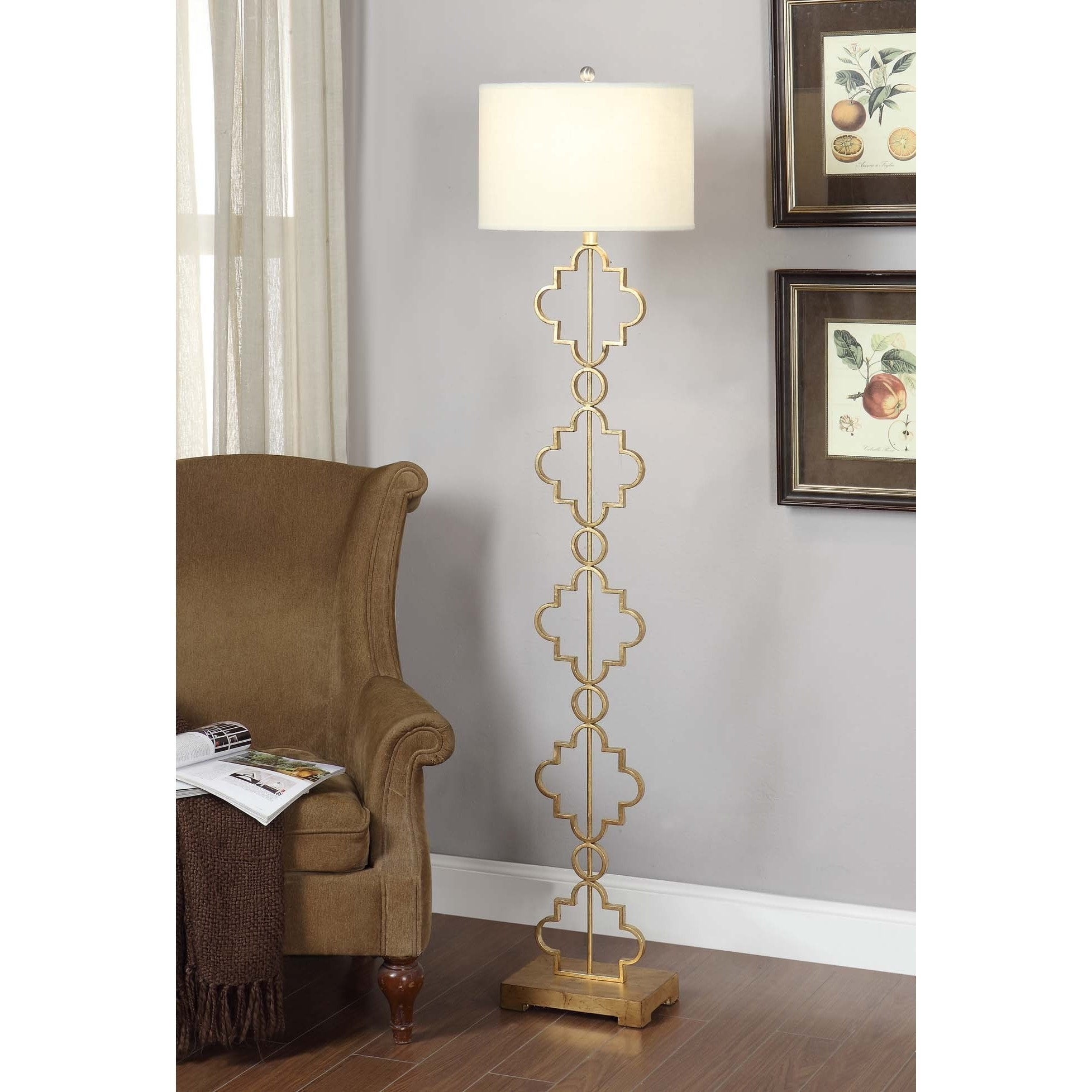 Gold Floor Reading Lamp The Curated Nomad Gold Leaf Moroccan Floor Lamp