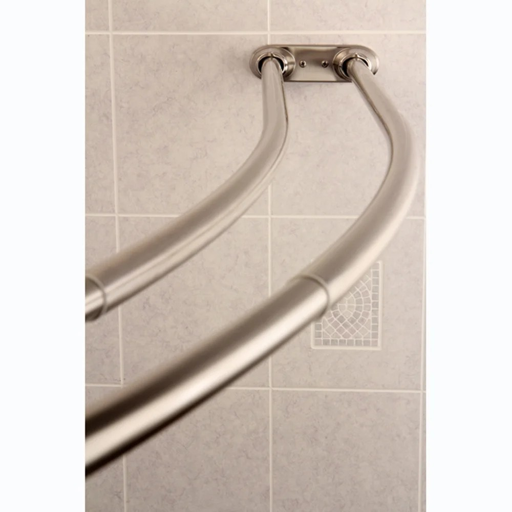 Curved Shower Curtains Rods Curved Adjustable Double Shower Satin Nickel Curtain Rod Satin Nickel