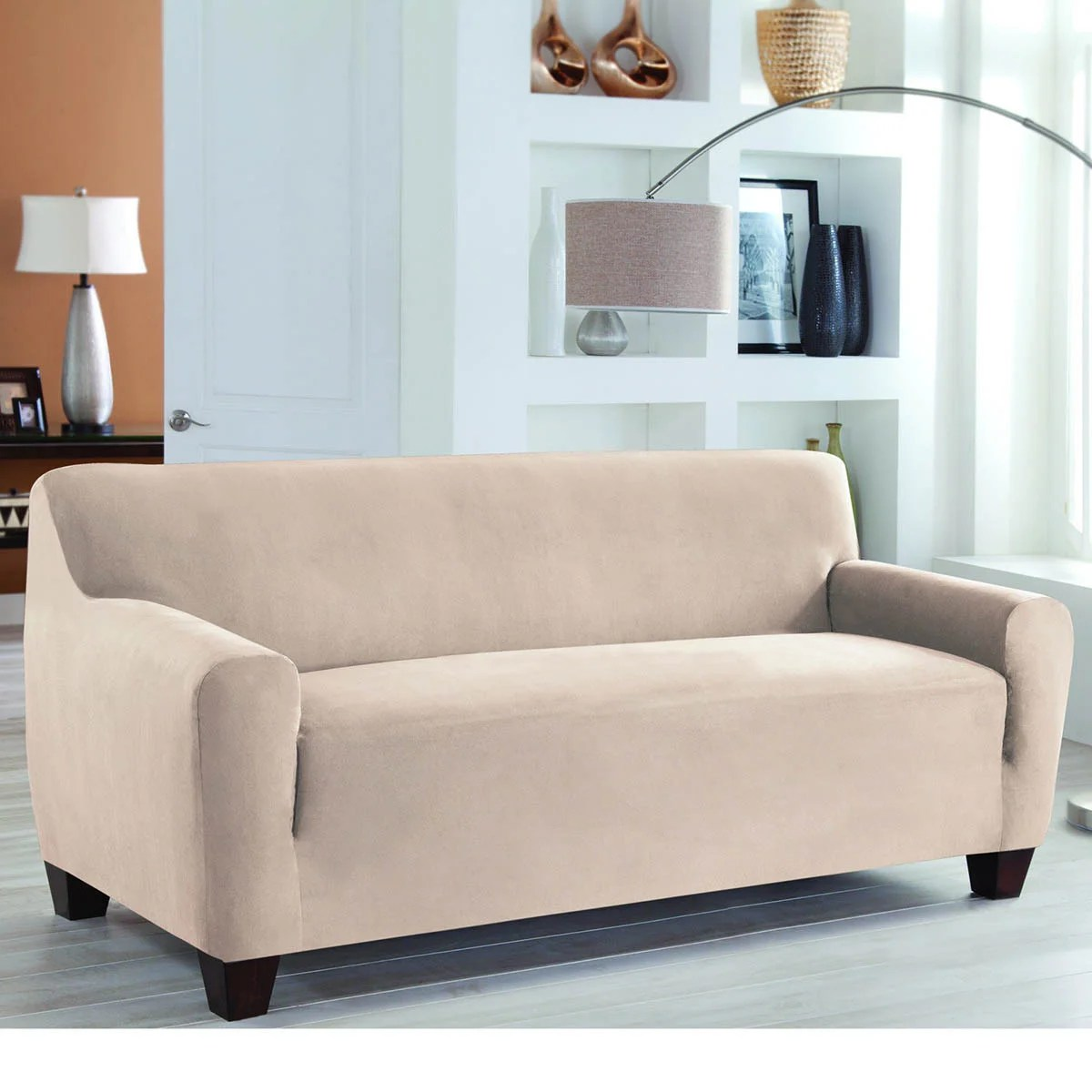 Fitted Slipcovers Couches Tailor Fit Stretch Fit Slipcover One Piece Sofa