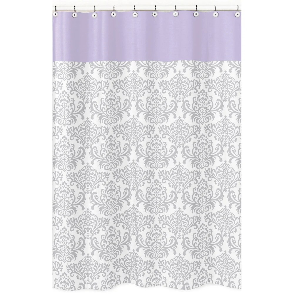 Lavender Shower Curtains Sweet Jojo Designs Elizabeth Gray Lavender Kid S Shower Curtain