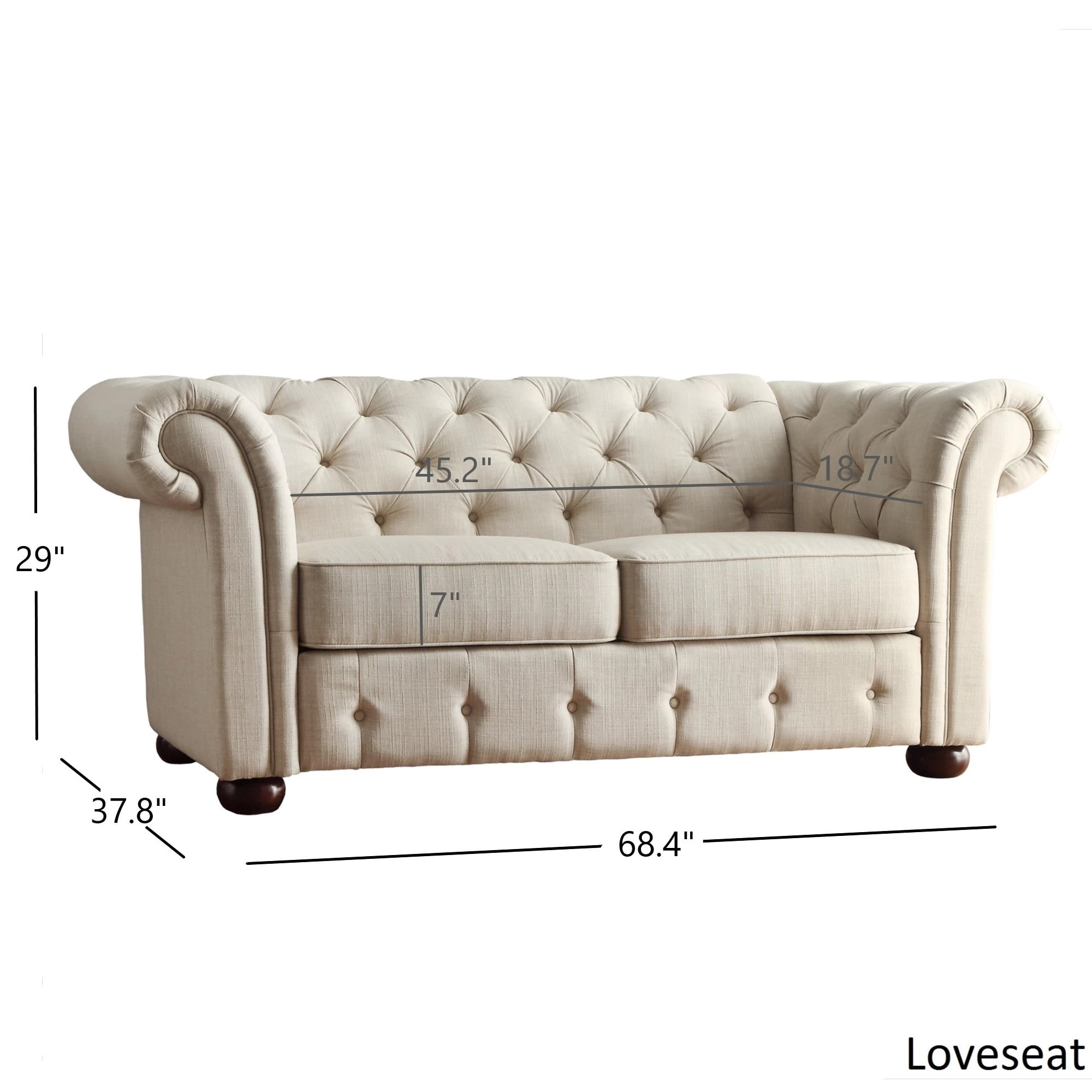 Chesterfield Sofa And Chair Knightsbridge Beige Fabric Button Tufted Chesterfield Sofa And Seating By Inspire Q Artisan