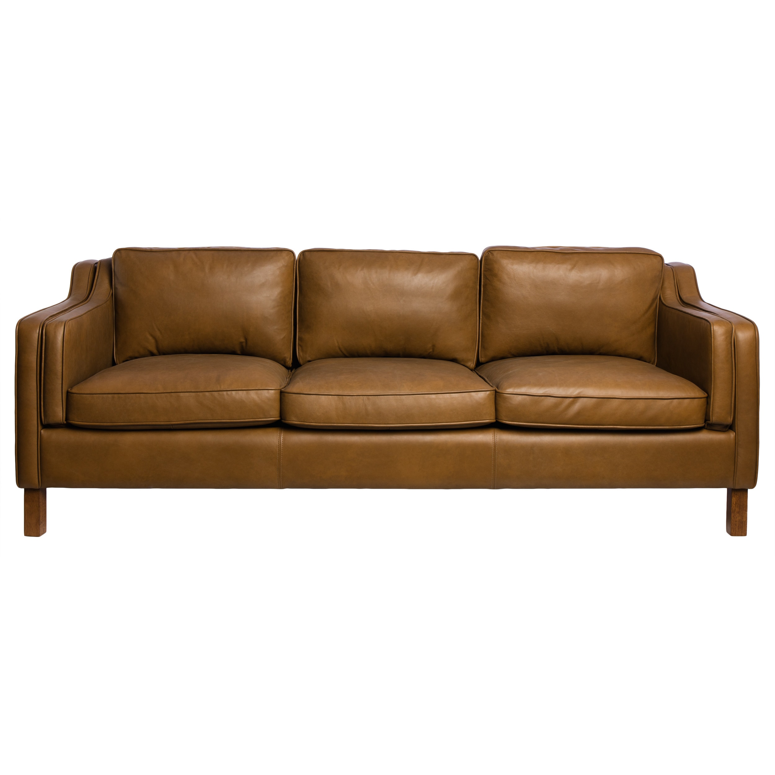 Canape Sofa Strick Bolton Canape 86 Inch Oxford Honey Leather Sofa