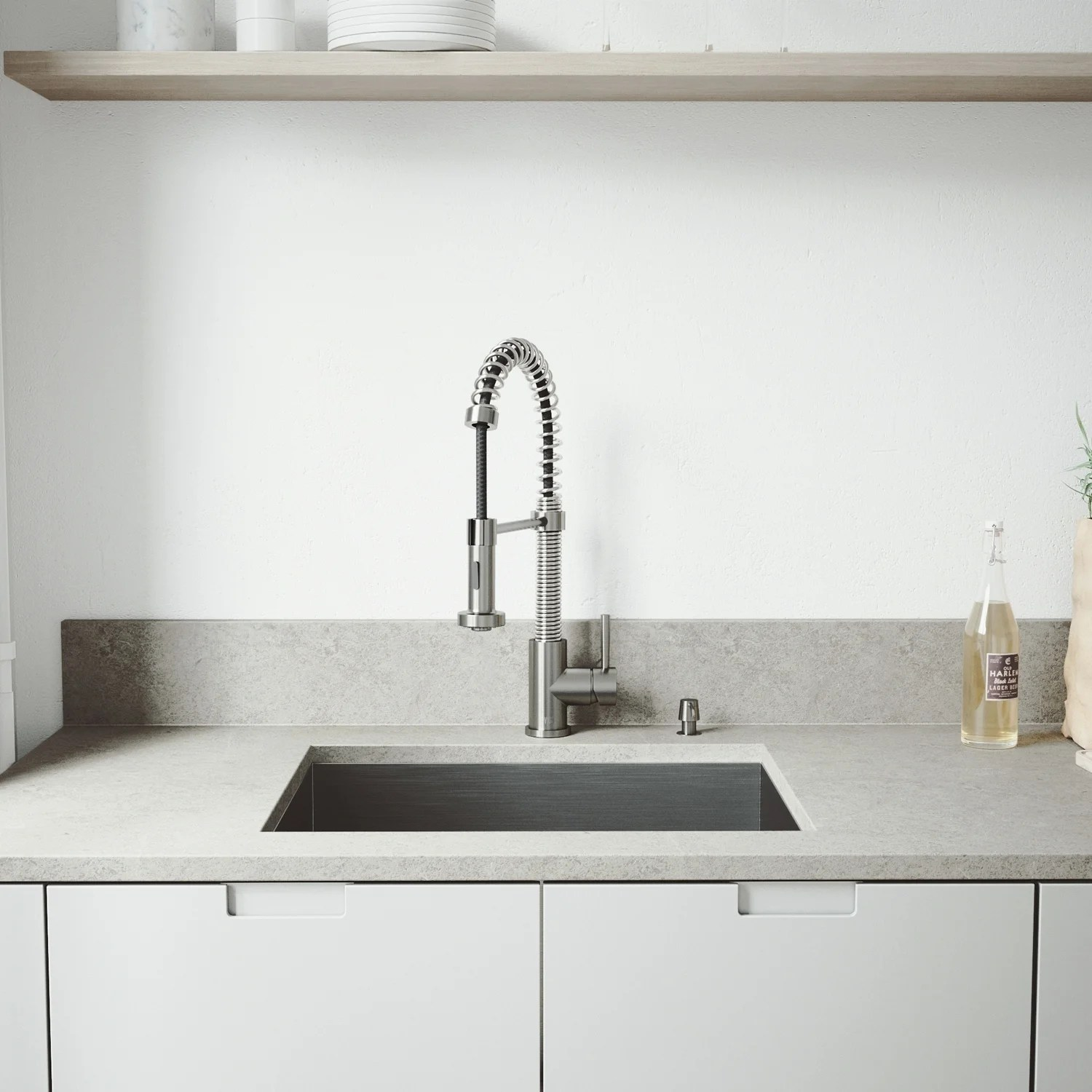 Kitchen Sink For 18 Cabinet Vigo Ludlow 23 Inch Stainless Steel Kitchen Sink And Edison Faucet Set