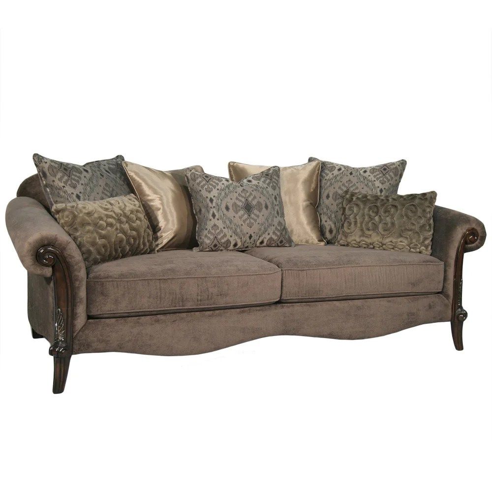 Lila Couch Fairmont Designs Made To Order Lila Traditional Roll Arm Sofa With Accent Pillows