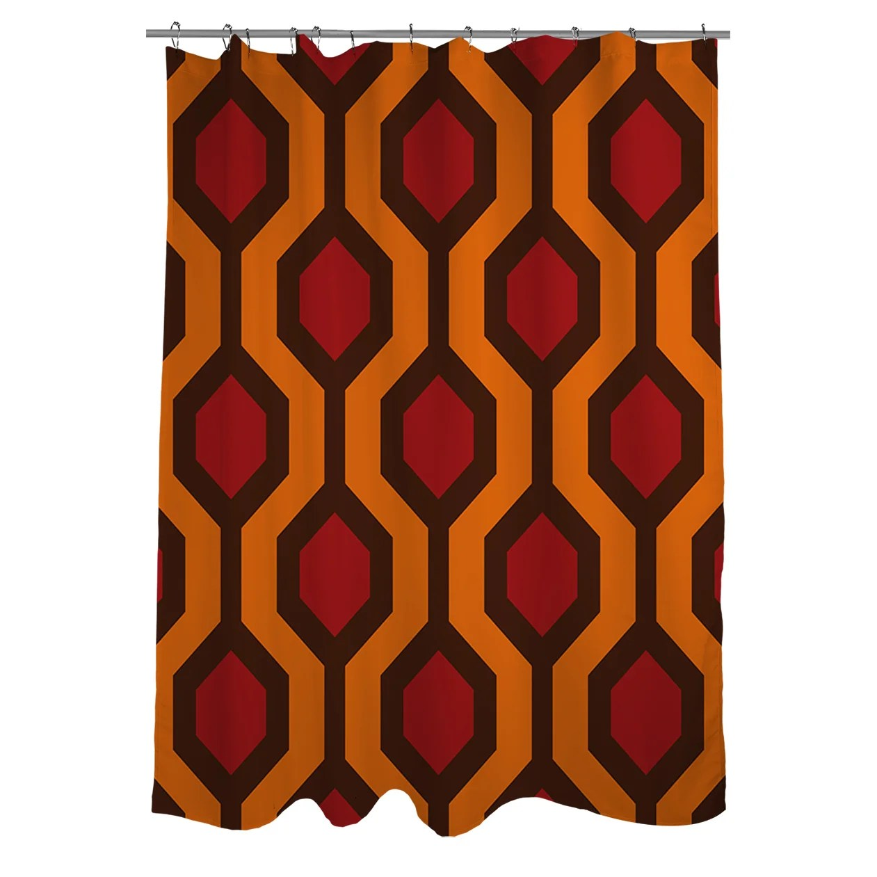 Red And Brown Shower Curtain Carpet Red Shower Curtain