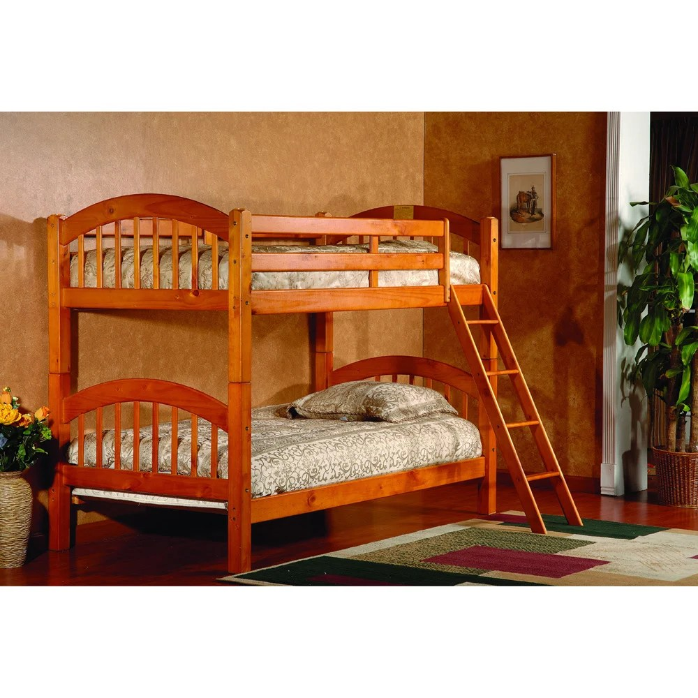 Stackable Twin Beds Oak Twin Twin Arch Stackable Bunk Bed