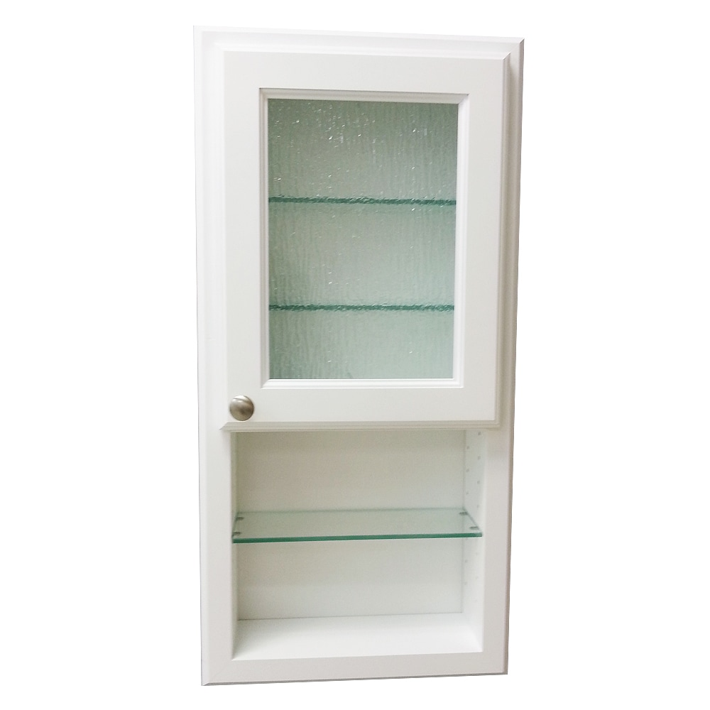 Glas Regalboden Regal 36 H Series On The Wall Cabinet And Shelf With Rain Art Glass Door