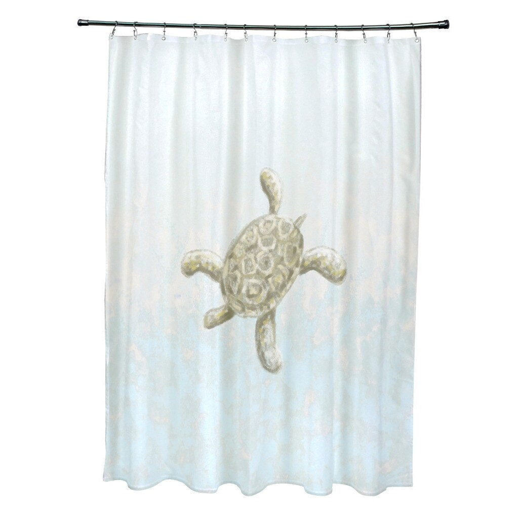74 Shower Curtain 71 X 74 Inch Tortuga And Water Coastal Shower Curtain