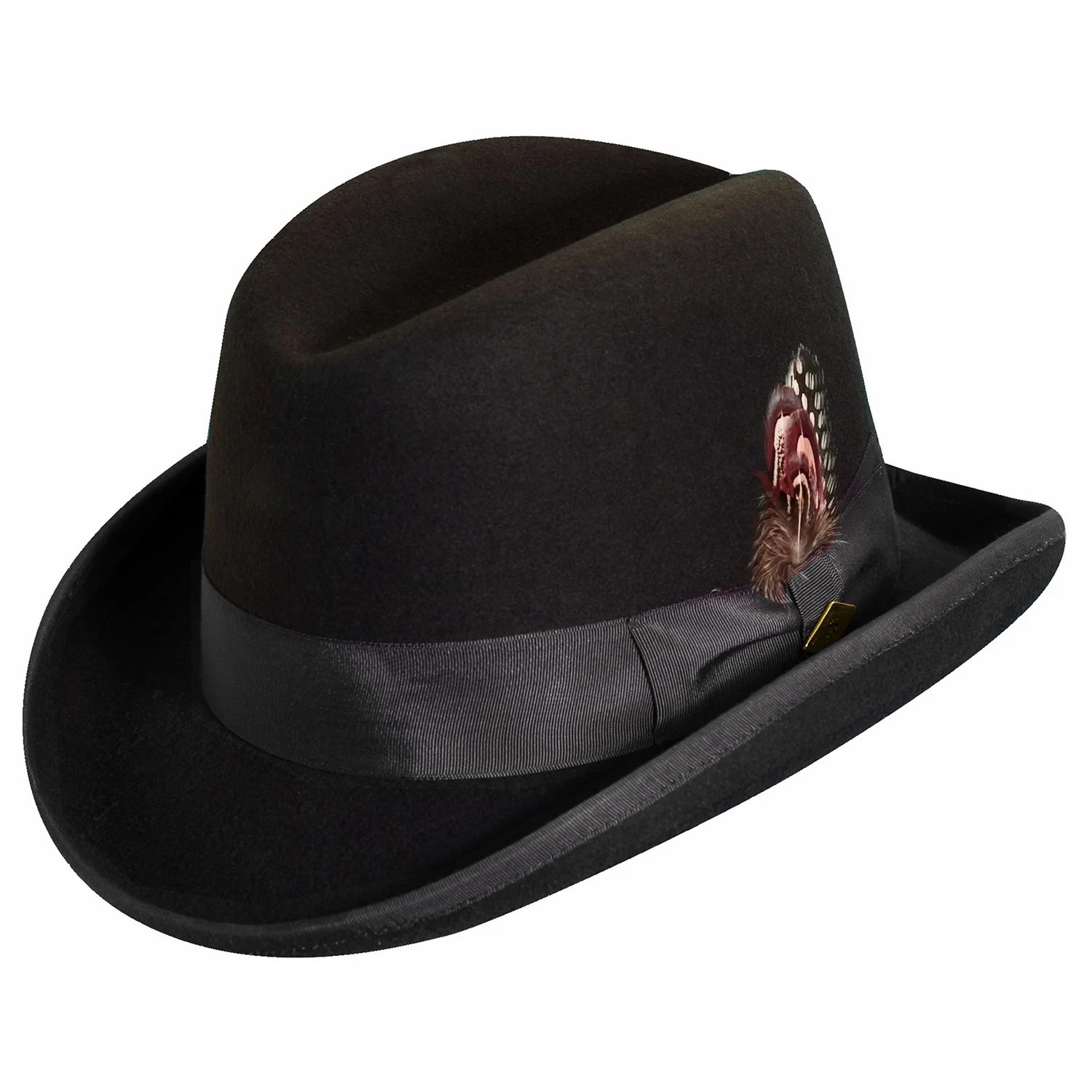 Cash Pool Homburg Stacy Adams Wool Felt Homburg Hat
