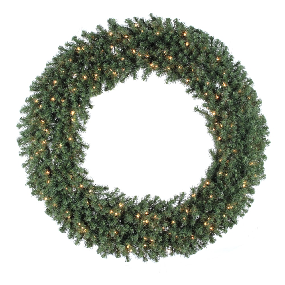 Lit En 200 60 Inch Douglas Wreath Dura Lit With 200 Clear Lights 900 Tips