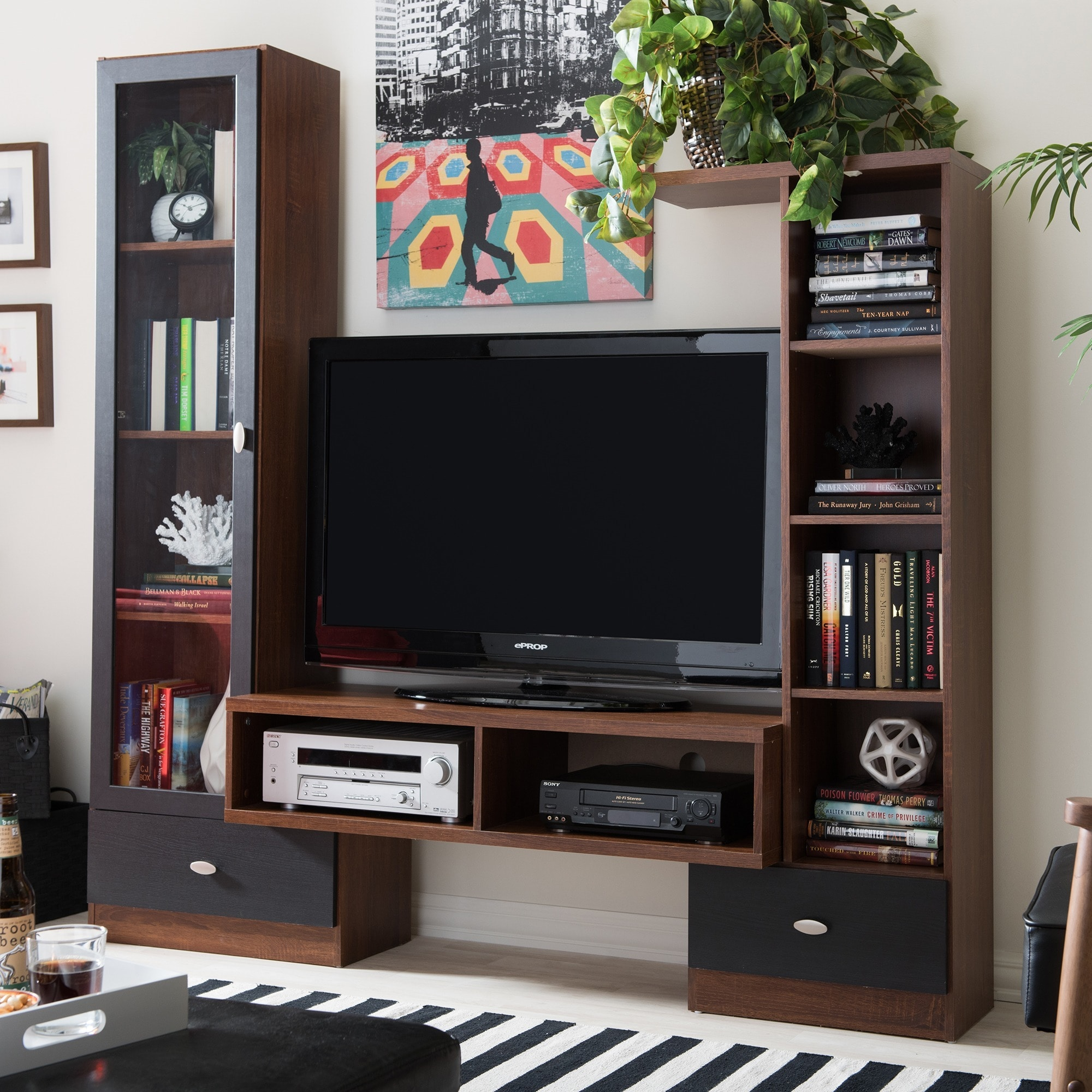 Modern Tv Baxton Studio Empire Sonoma Oak Finishing Modern Tv Stand