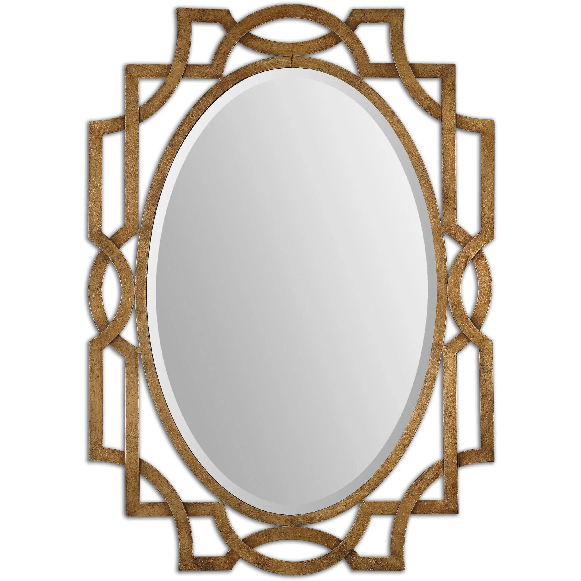 Decorative Mirror Uttermost Margutta Gold Decorative Oval Mirror