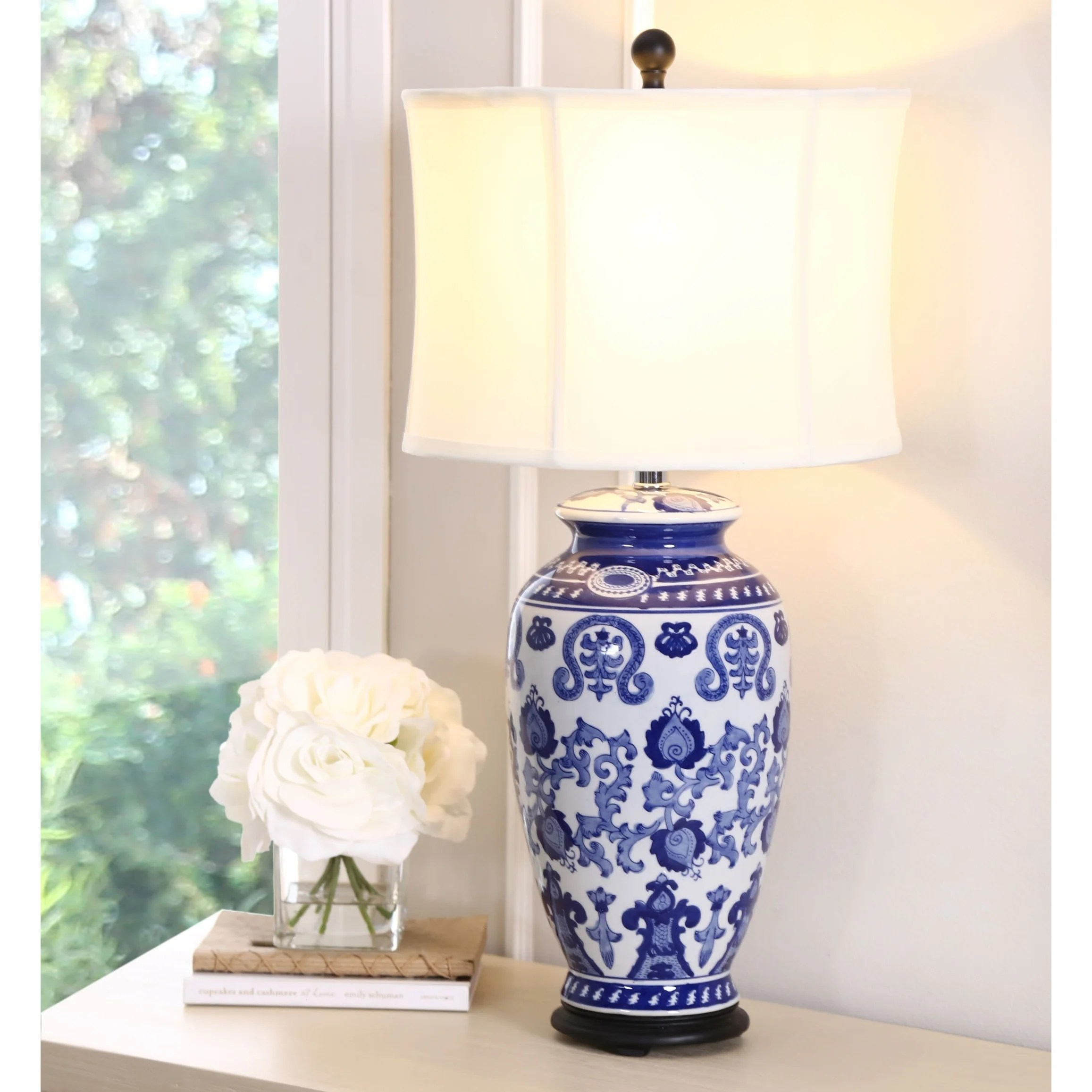 Asian Table Lamp Abbyson Hand Painted Asian Blue 28 Inch Table Lamp