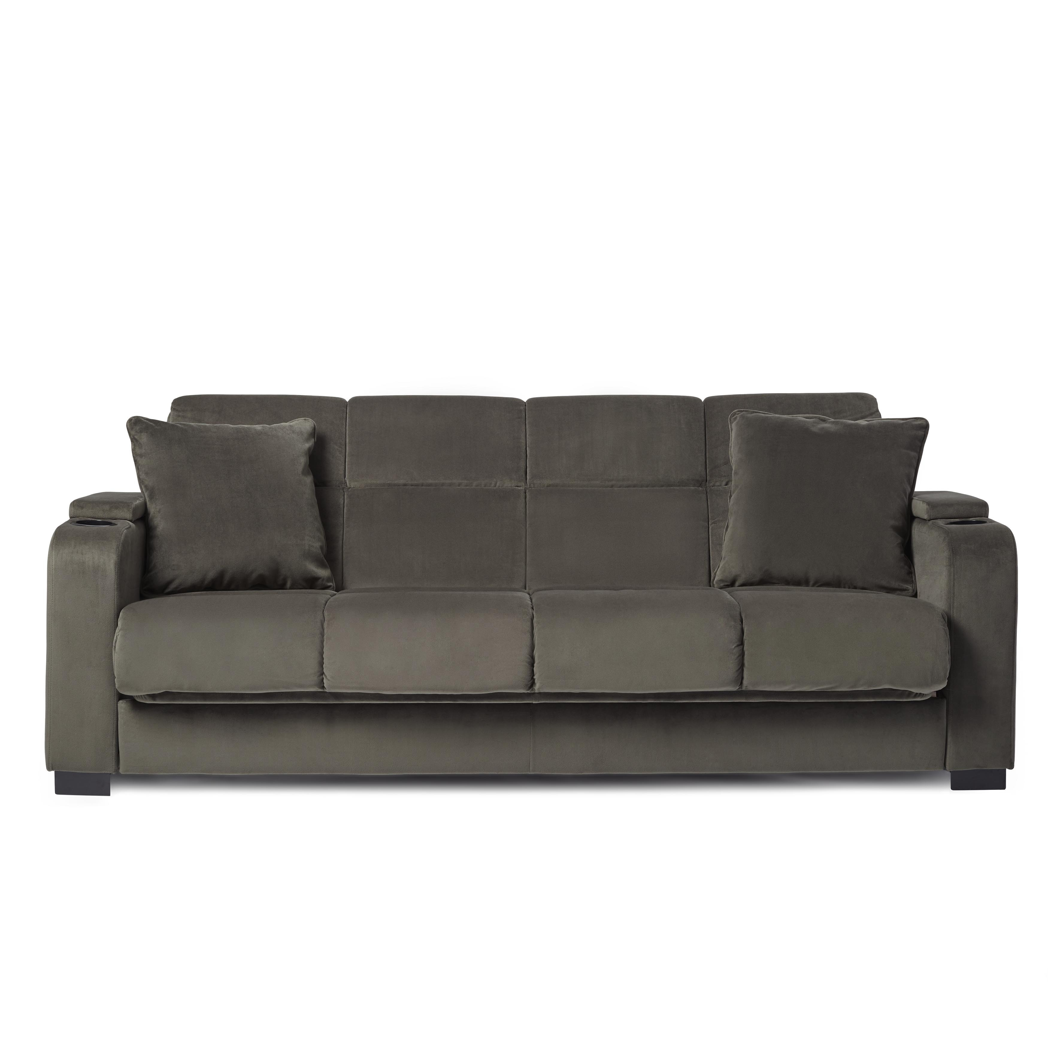 Sofa Bed Express Delivery Copper Grove Jessie Grey Velvet Convert A Couch Futon Sofa Sleeper