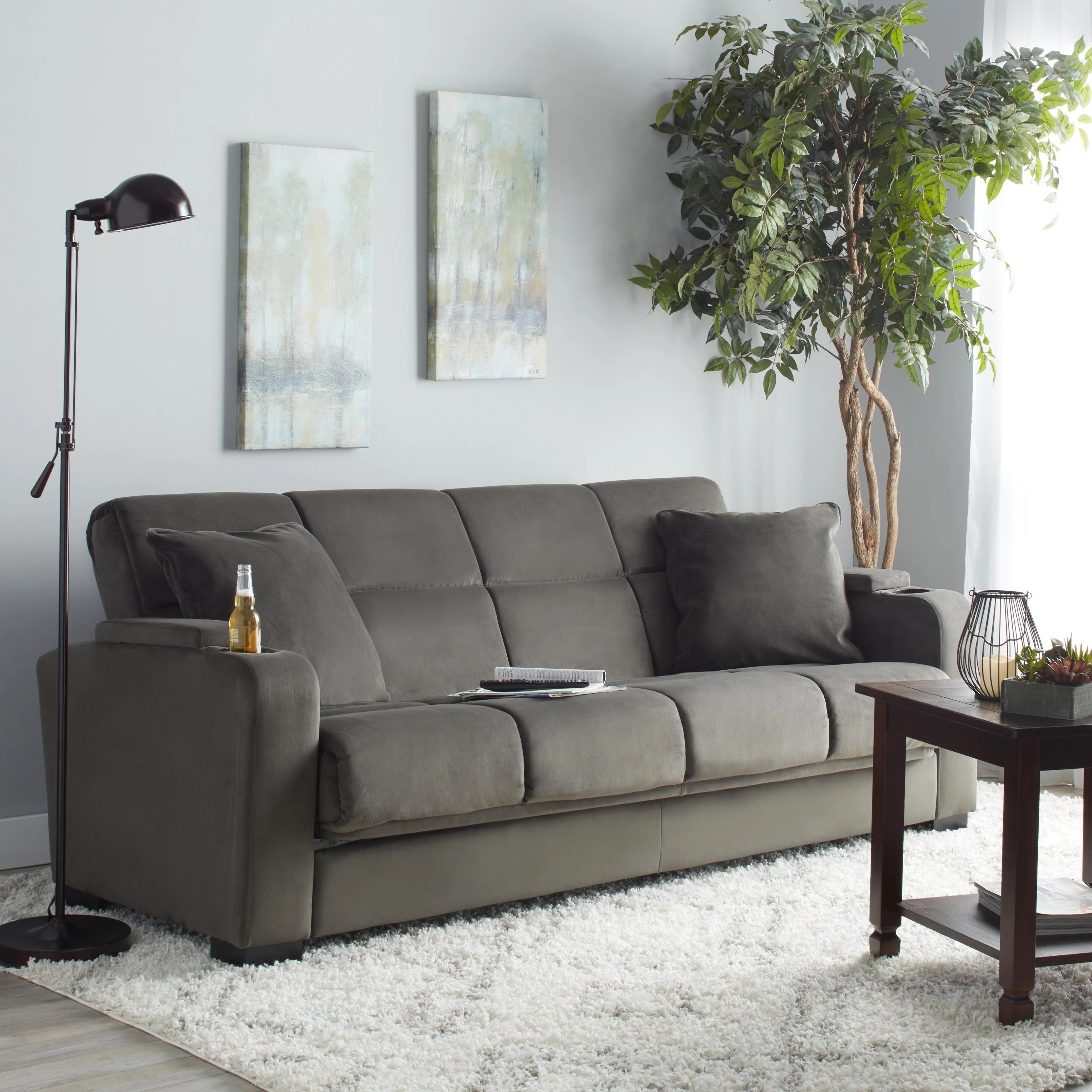 Couches Sleeper Copper Grove Jessie Grey Velvet Convert A Couch Futon Sofa Sleeper