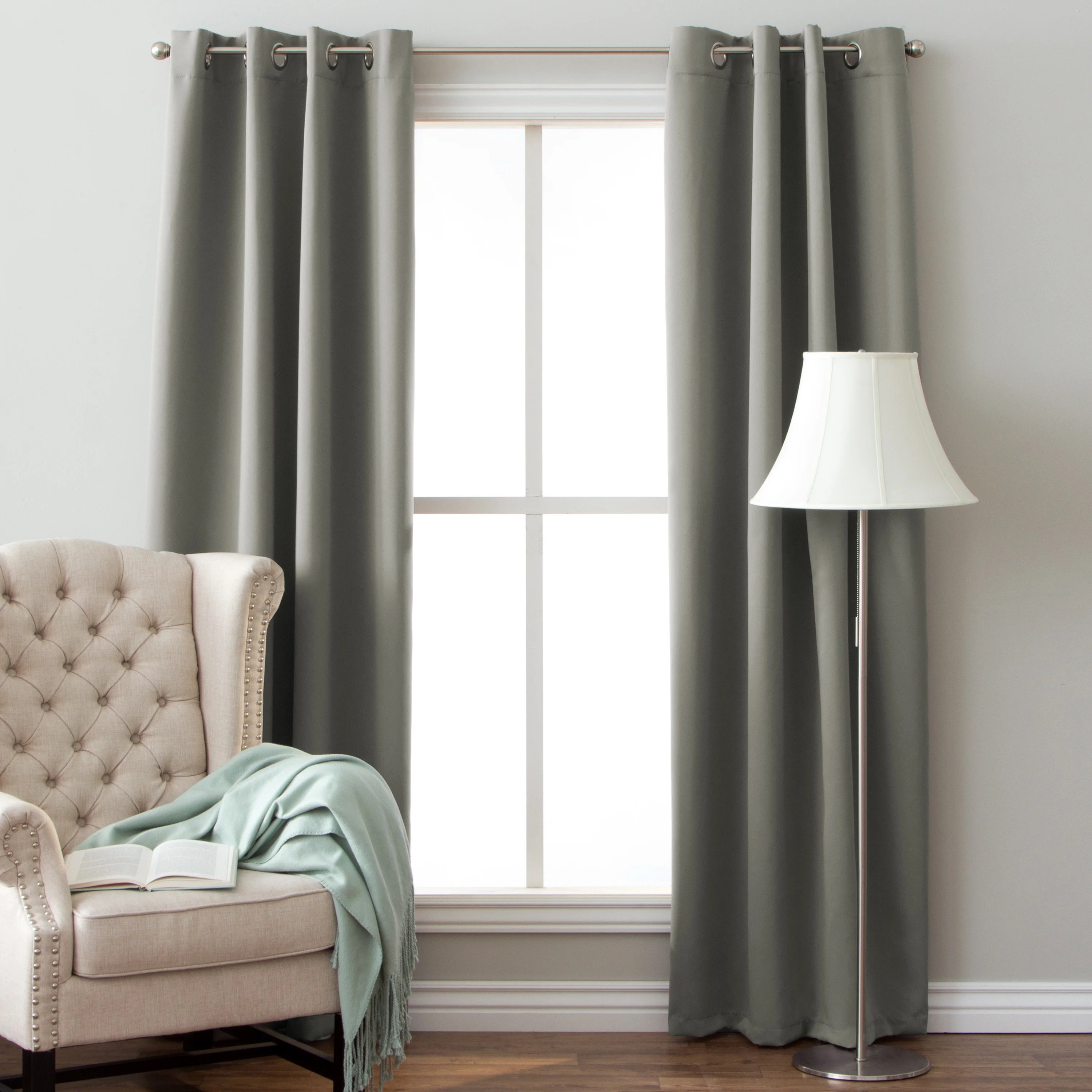 104 Inch Curtains Arlo Blinds Grommet Blackout Curtains 64 Inch Height Panel Pair Total Width 104 Inch
