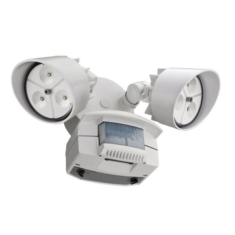 Motion Detector Lights Outdoor Lithonia Lighting Oflr 6lc 120 Mo Wh Led White Outdoor Floodlight 2 Light Motion Sensor