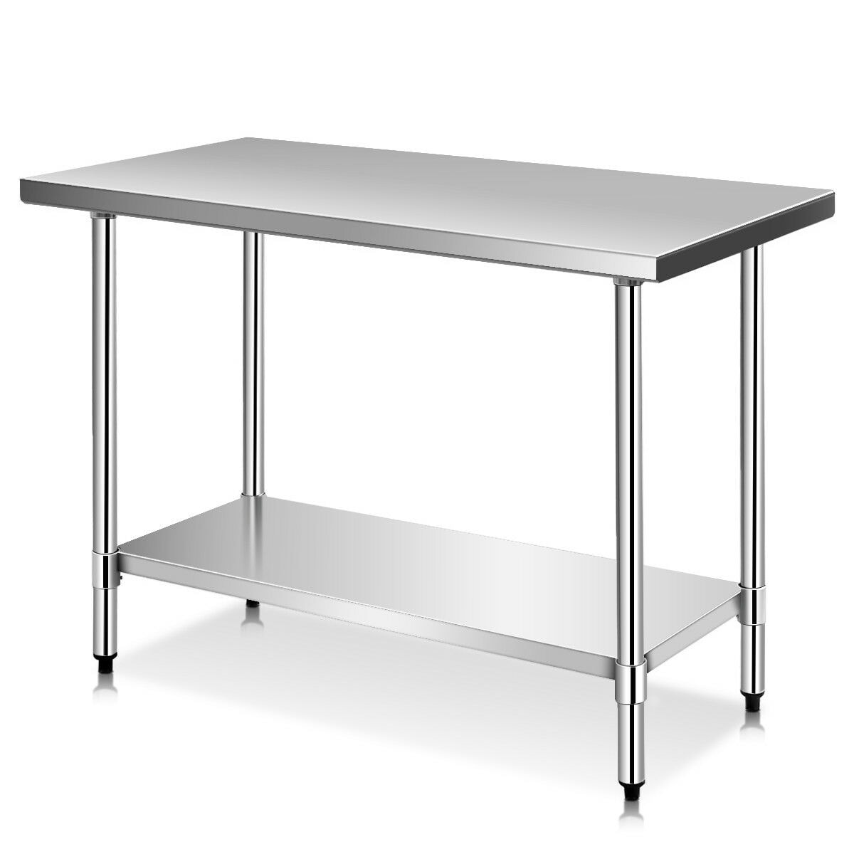 Stainless Restaurant Table Costway 24 X 48 Stainless Steel Work Prep Table Commercial Kitchen Restaurant Sliver