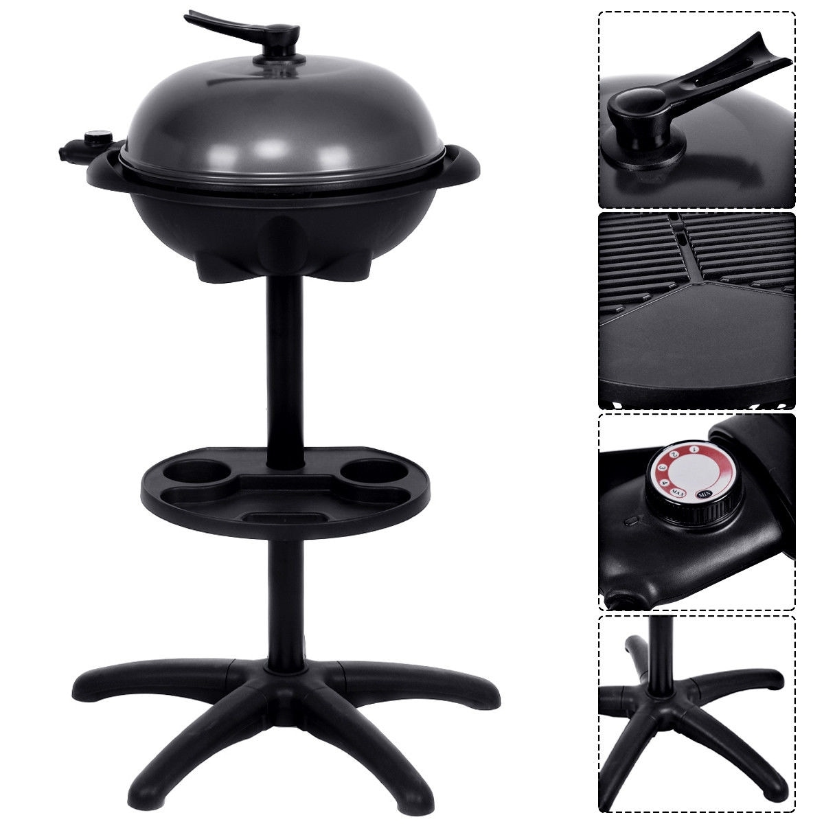 Grill Camping Costway Electric Bbq Grill 1350w Non Stick 4 Temperature Setting Outdoor Garden Camping As Pic