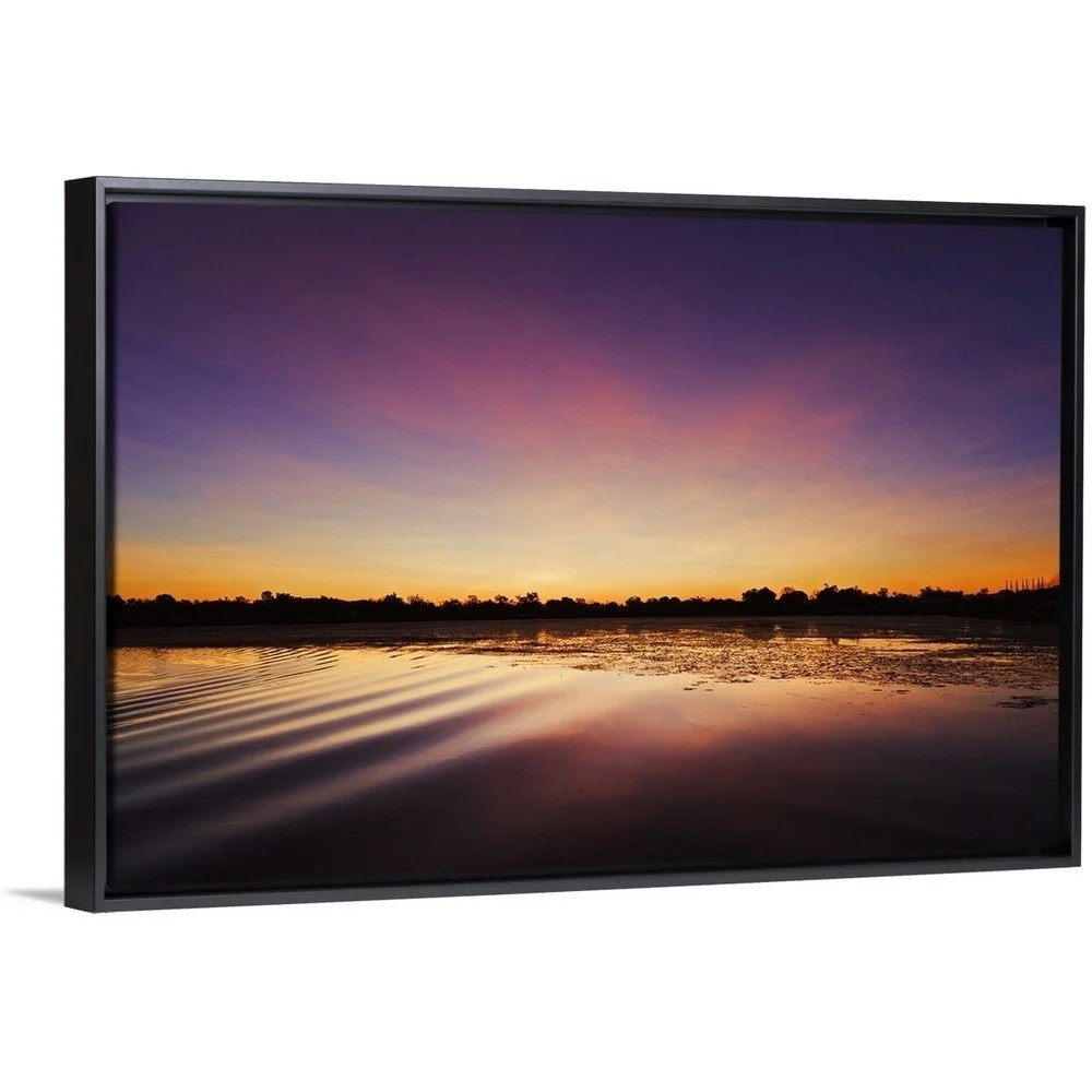 Picture Frames Australia Floating Frame Premium Canvas With Black Frame Entitled Lake Kununurra Kimberley Western Australia Multi Color