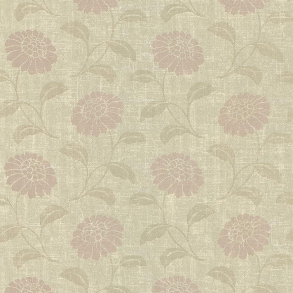 Chic Contemporary Modern Wallpaper Brewster 347 55664 Peery Beige Modern Floral Silhouette Wallpaper