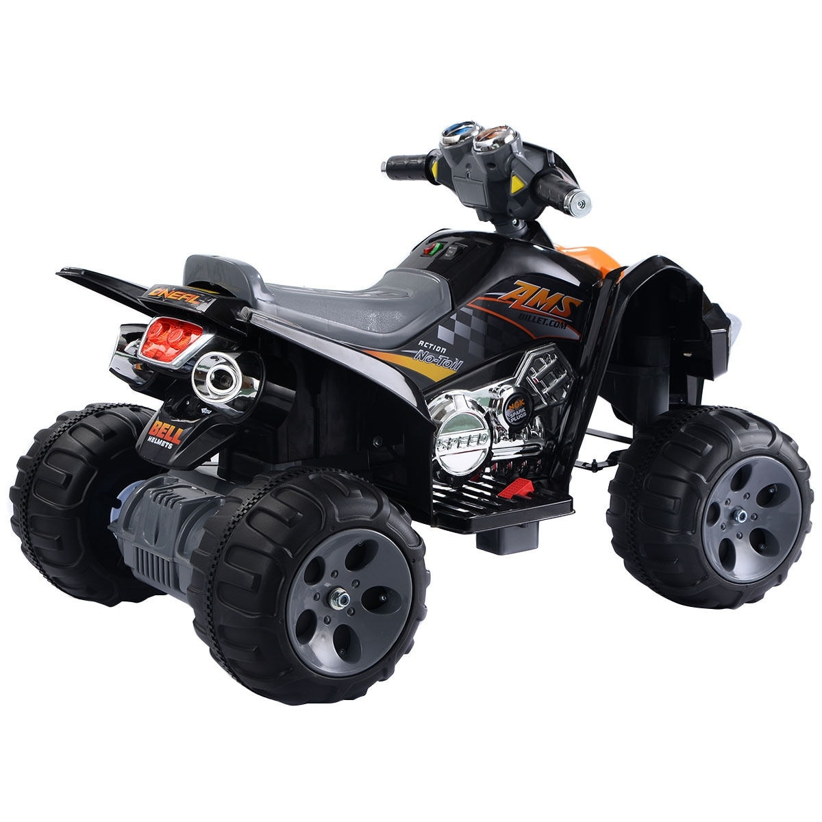 12v Led Quad Costway Kids Ride On Atv Quad 4 Wheeler Electric Toy Car 12v Battery Power Led Lights Black