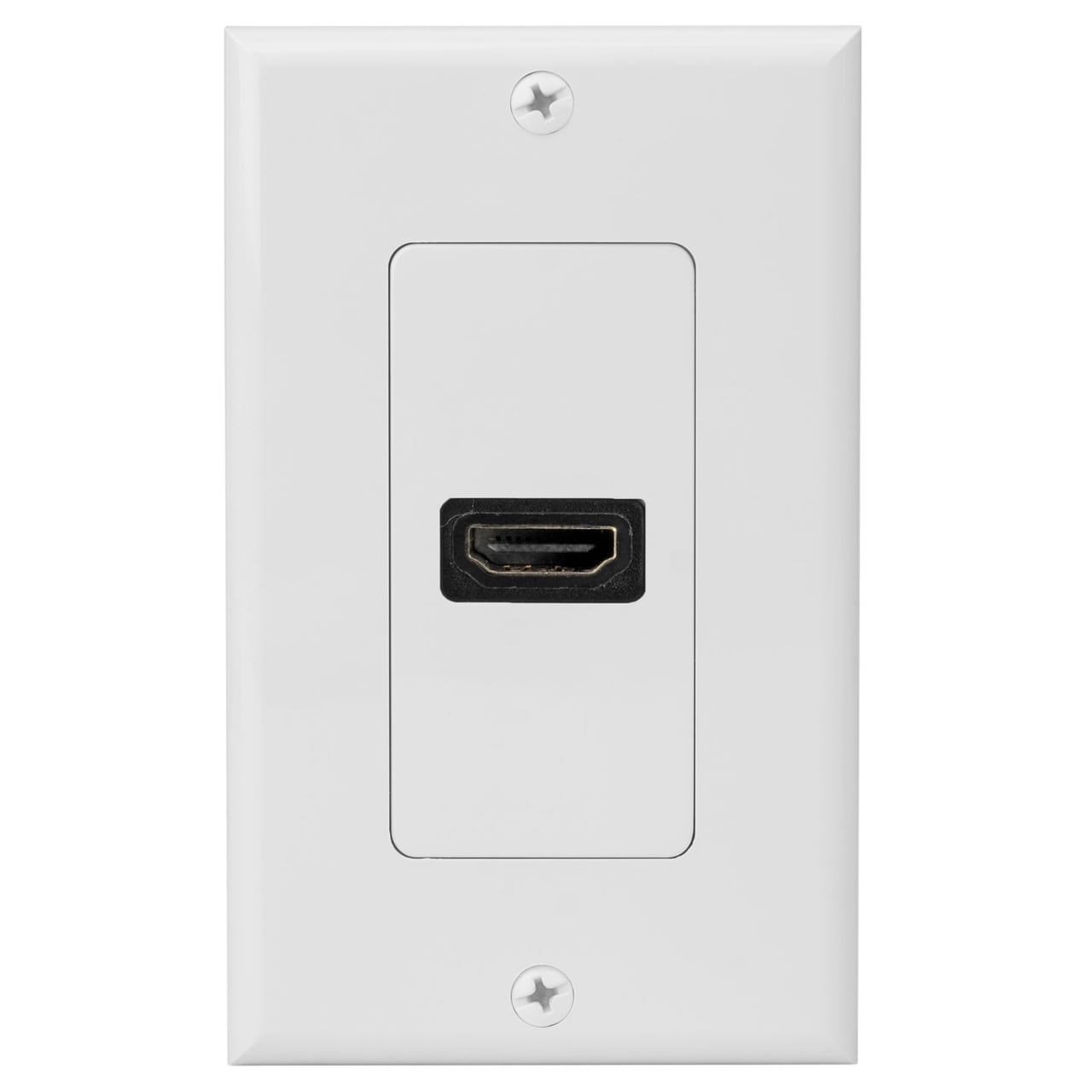 Hdmi Outlet 4xem 4xwallhdmi1 4xem 1 Port Outlet Female Hdmi Wall Plate White 1 Gang White 1 X Hdmi Port S