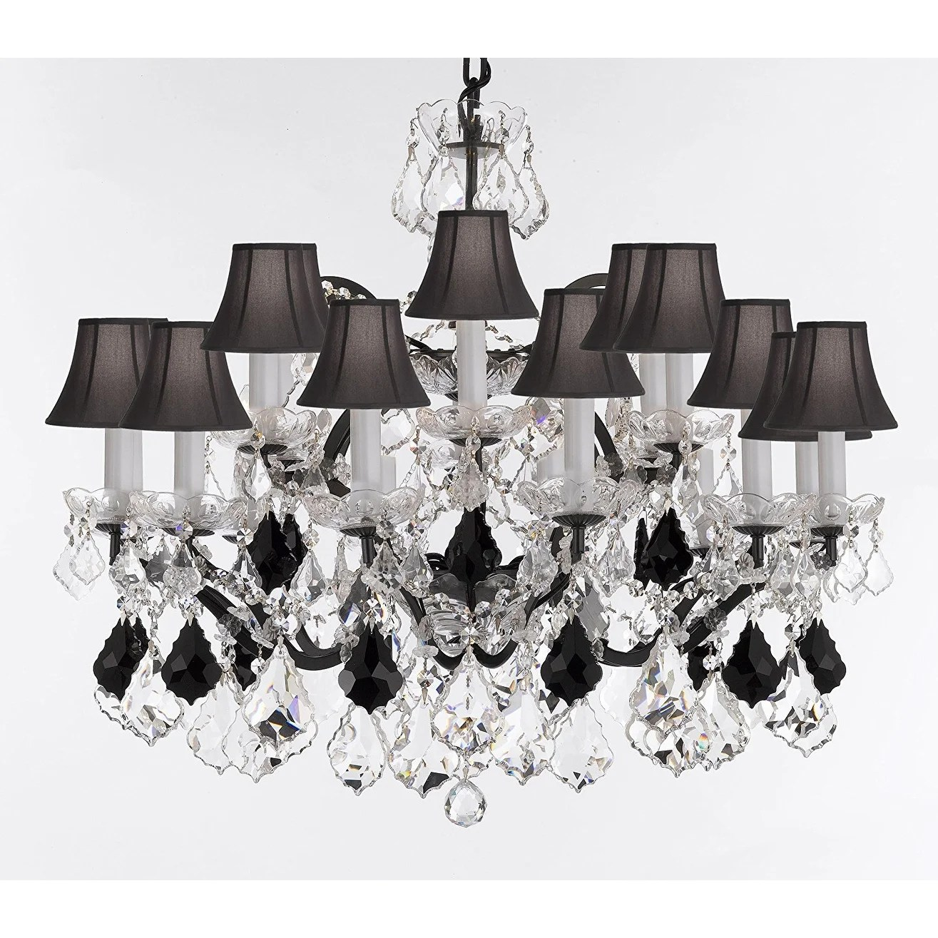 Black Wrought Iron Kitchen Light Fixtures Baroque Wrought Iron Crystal Chandelier