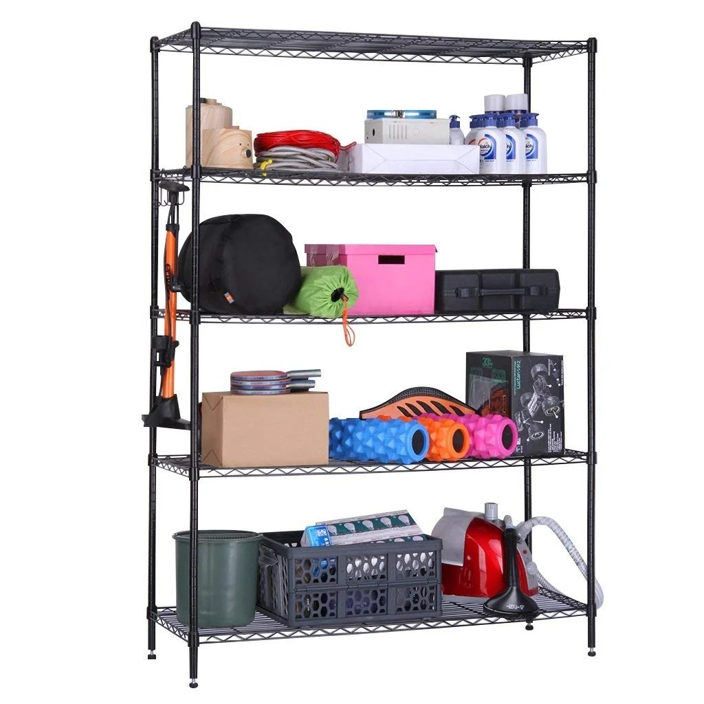 Garage Shelving Units Langria 5 Tier Heavy Duty Garage Shelving Unit Hold Up To 441lbs 200kg Storage Rack Shelf Metal Shelves Black